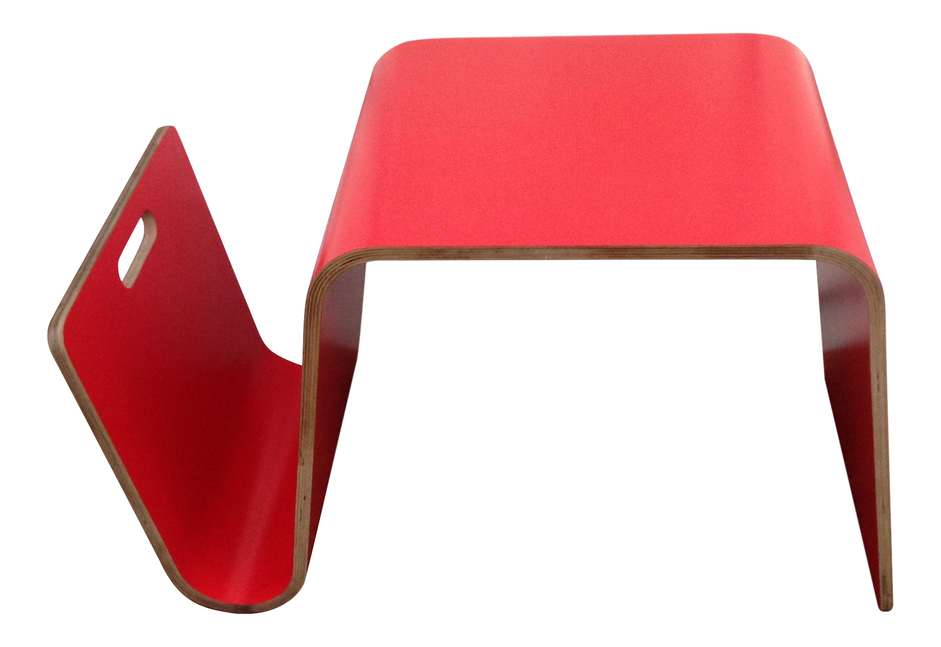 offi mag table in red laminate  chairish - image of offi mag table in red laminate