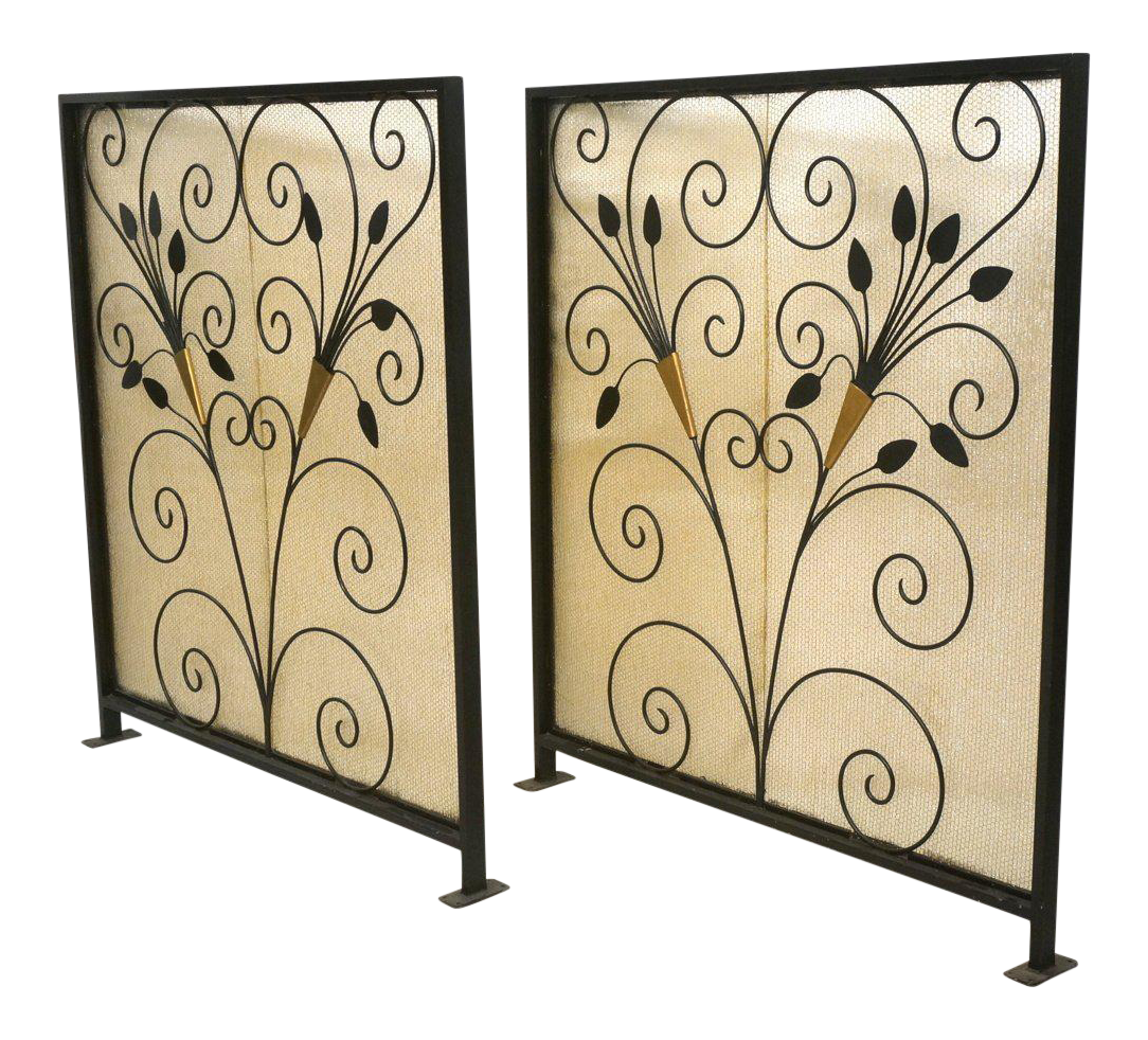 French Art Deco Room Dividers A Pair Chairish