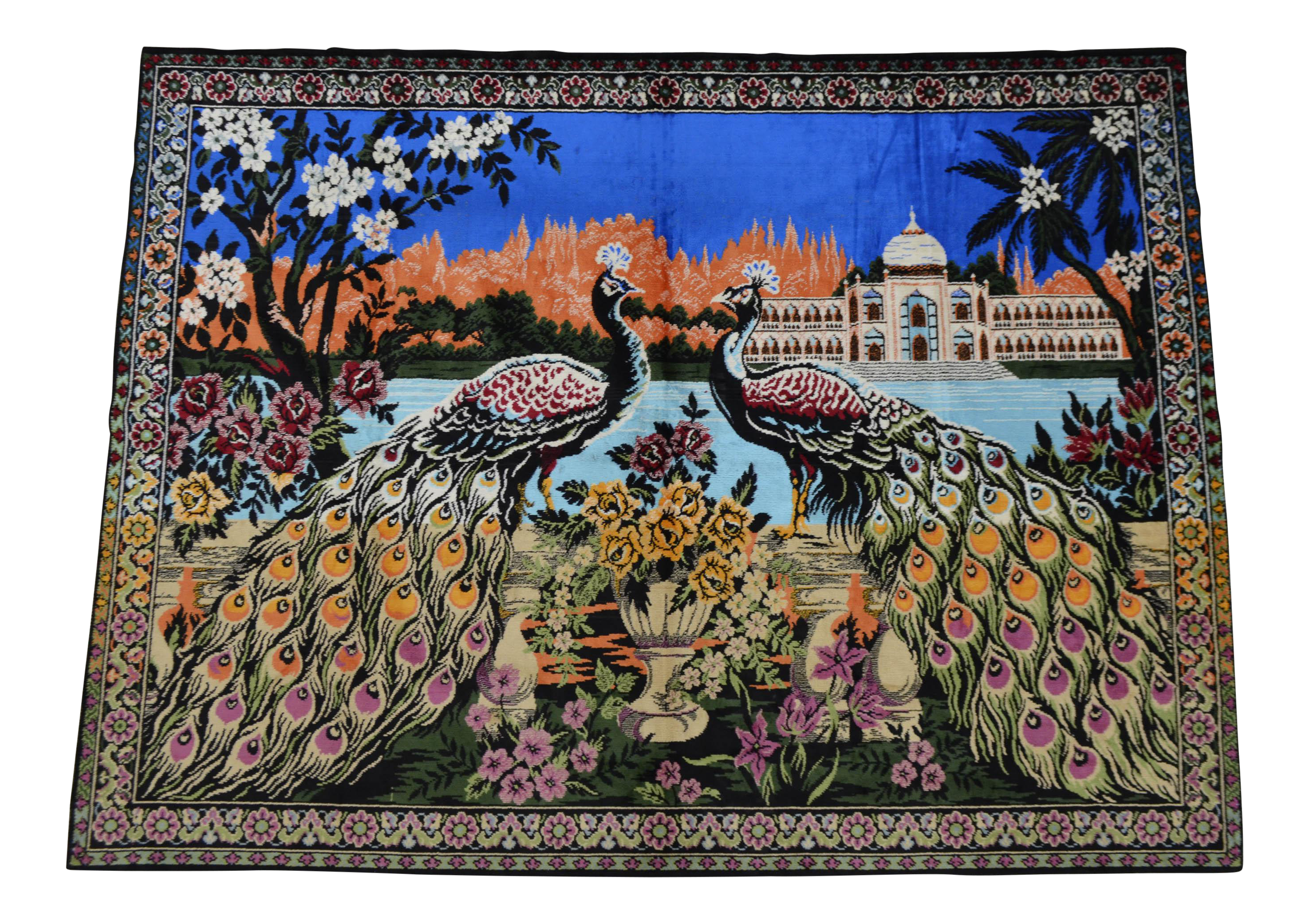 Vintage Peacock Pattern Tapestry Chairish