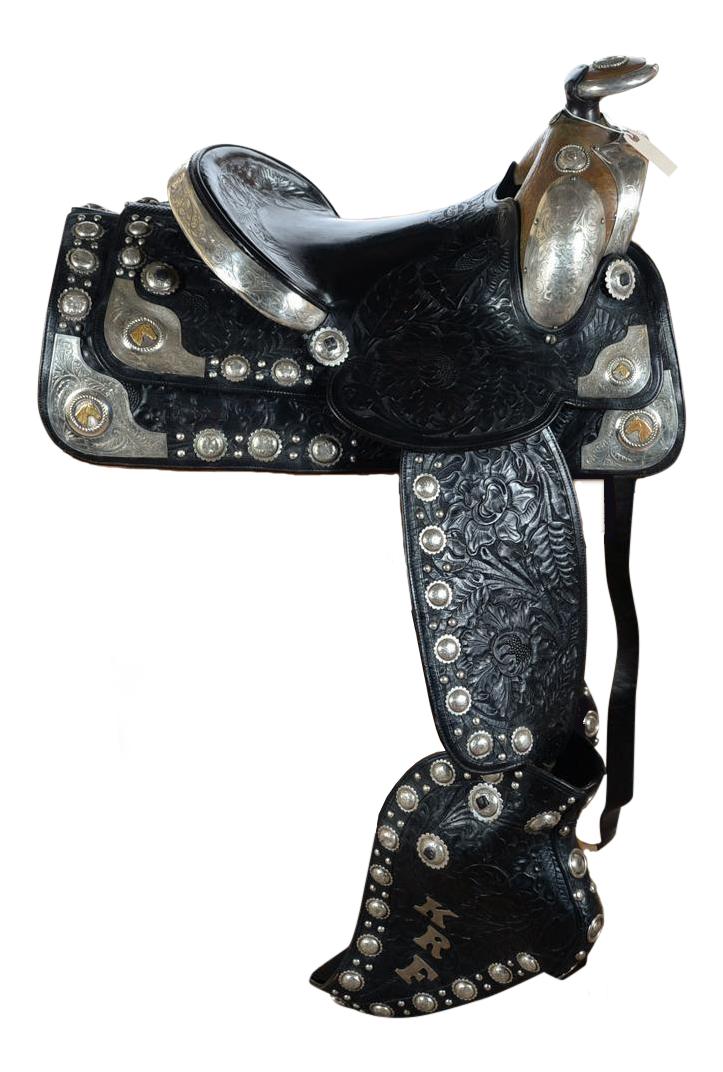 Olsen Nolte Hand Tooled Leather Parade Saddle Chairish