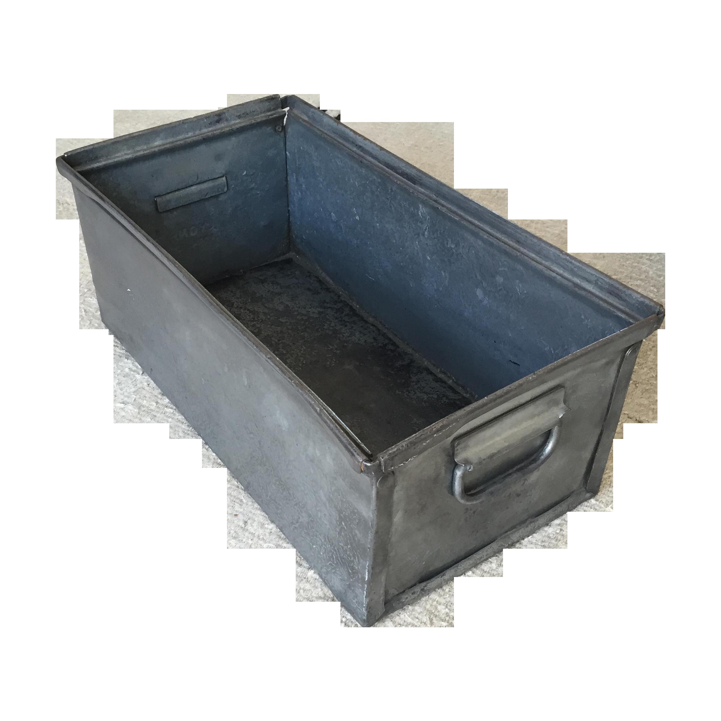 Vintage Industrial Metal Storage Box Chairish