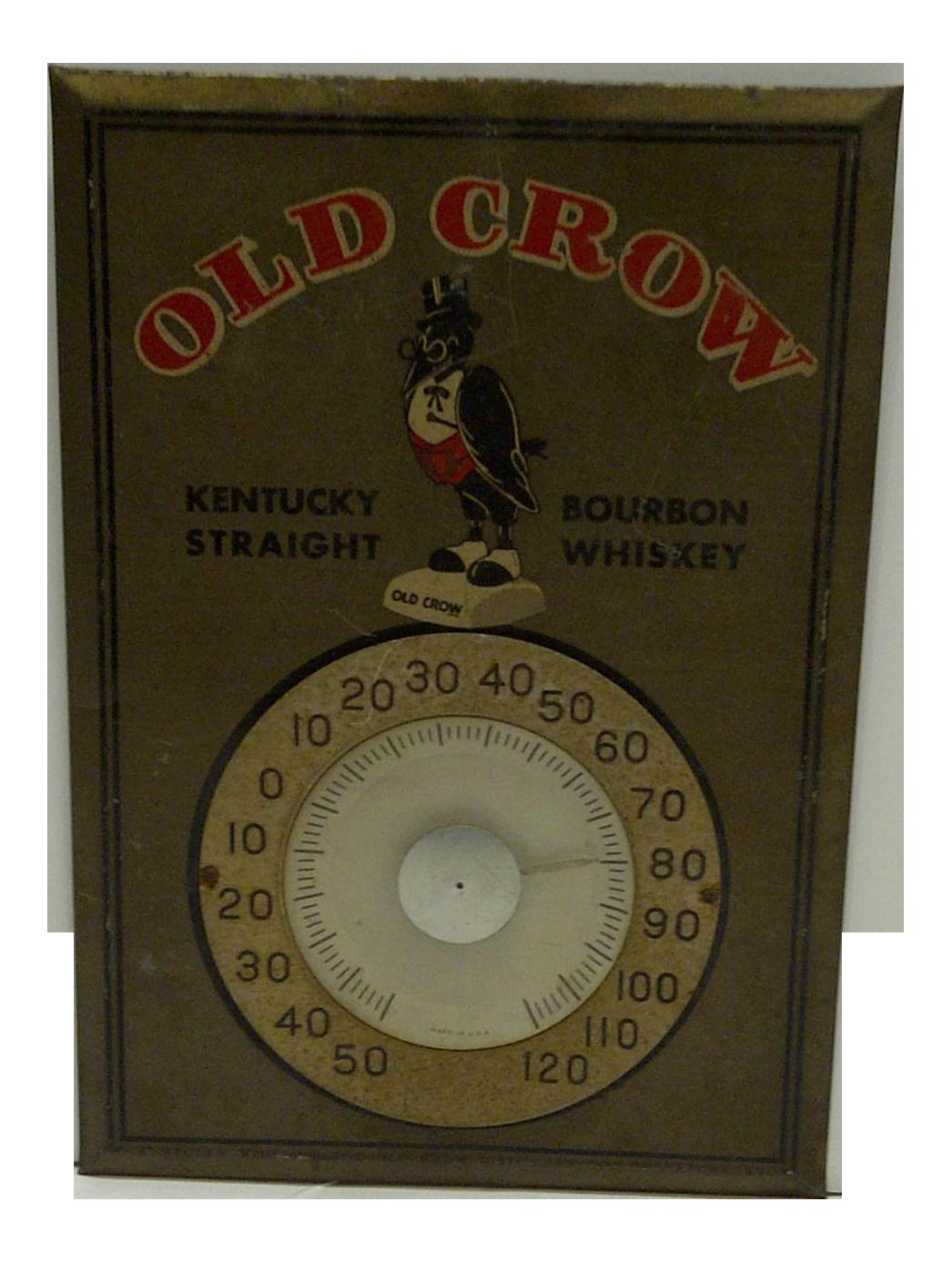C 1950 Old Crow Kentucky Bourbon Whiskey Metal