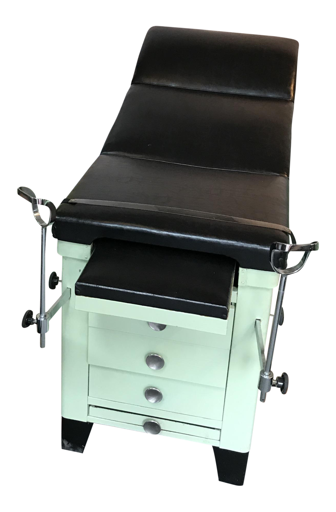 Vintage Medical Examination Table And Cabinet Chairish