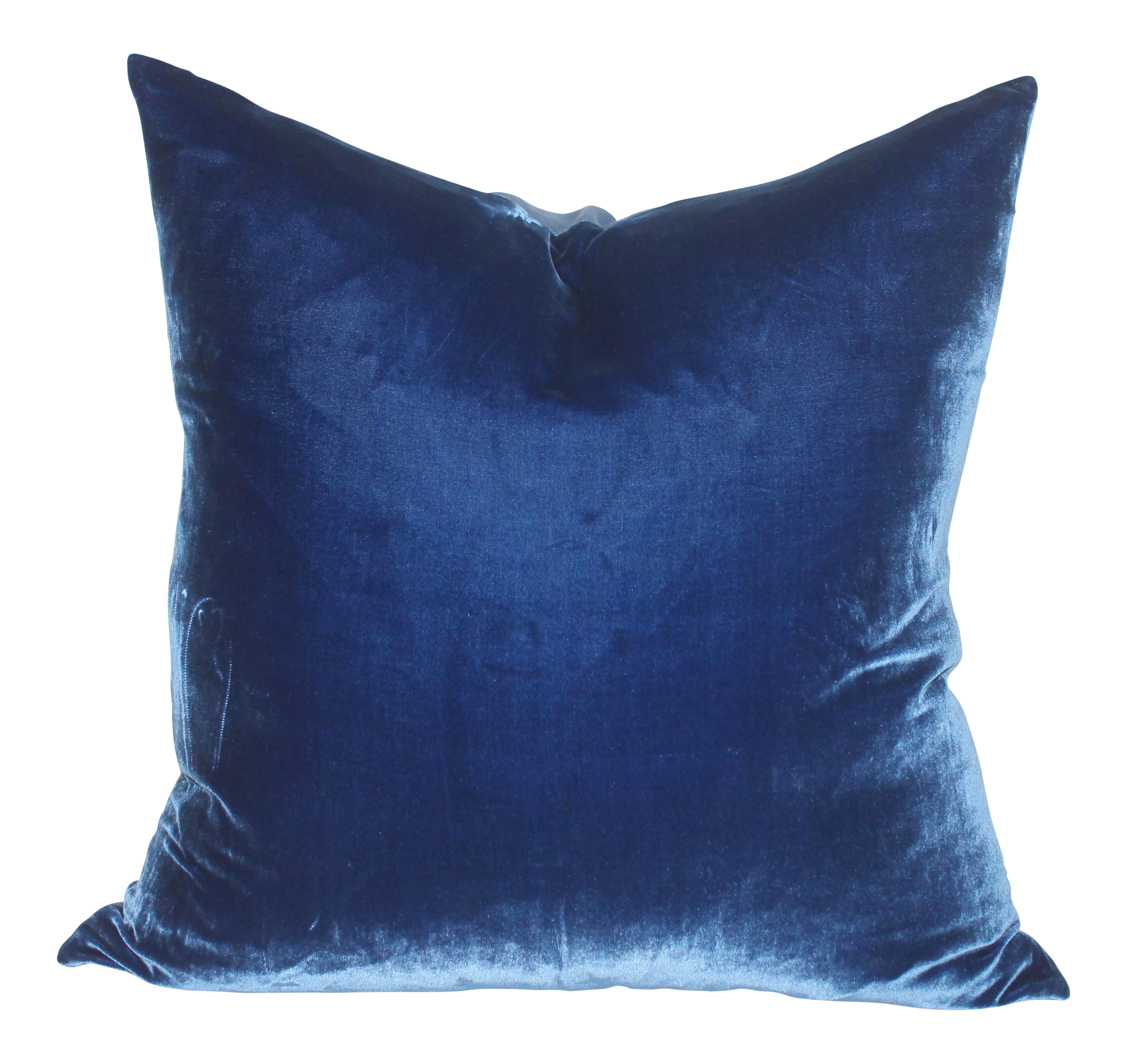 Royal Blue Velvet Pillow Chairish