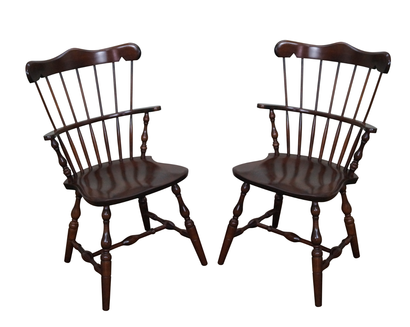 S Bent Bros Solid Maple Windsor Chairs A Pair Chairish