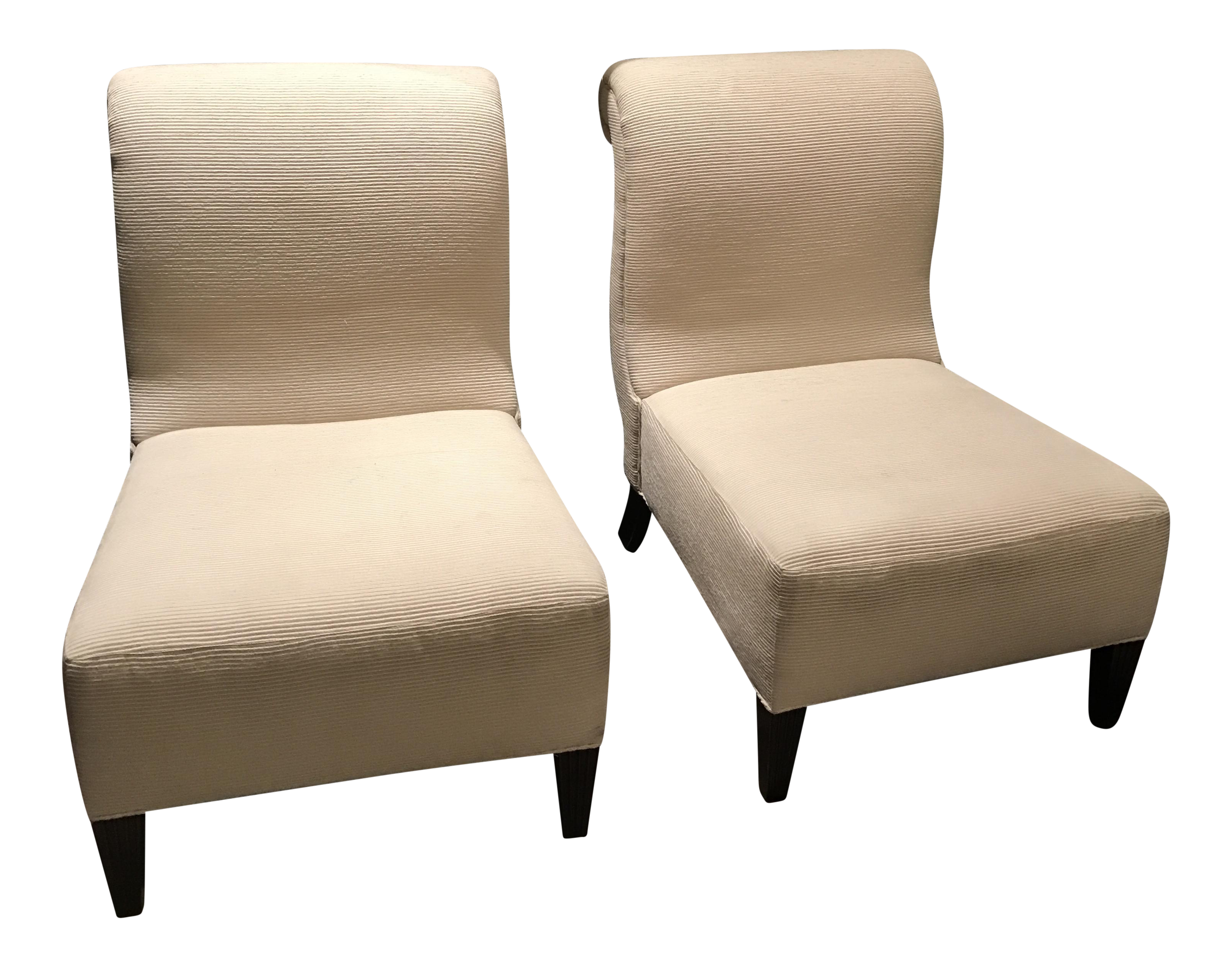barbara barry for baker furniture slipper chairs a pair. Black Bedroom Furniture Sets. Home Design Ideas