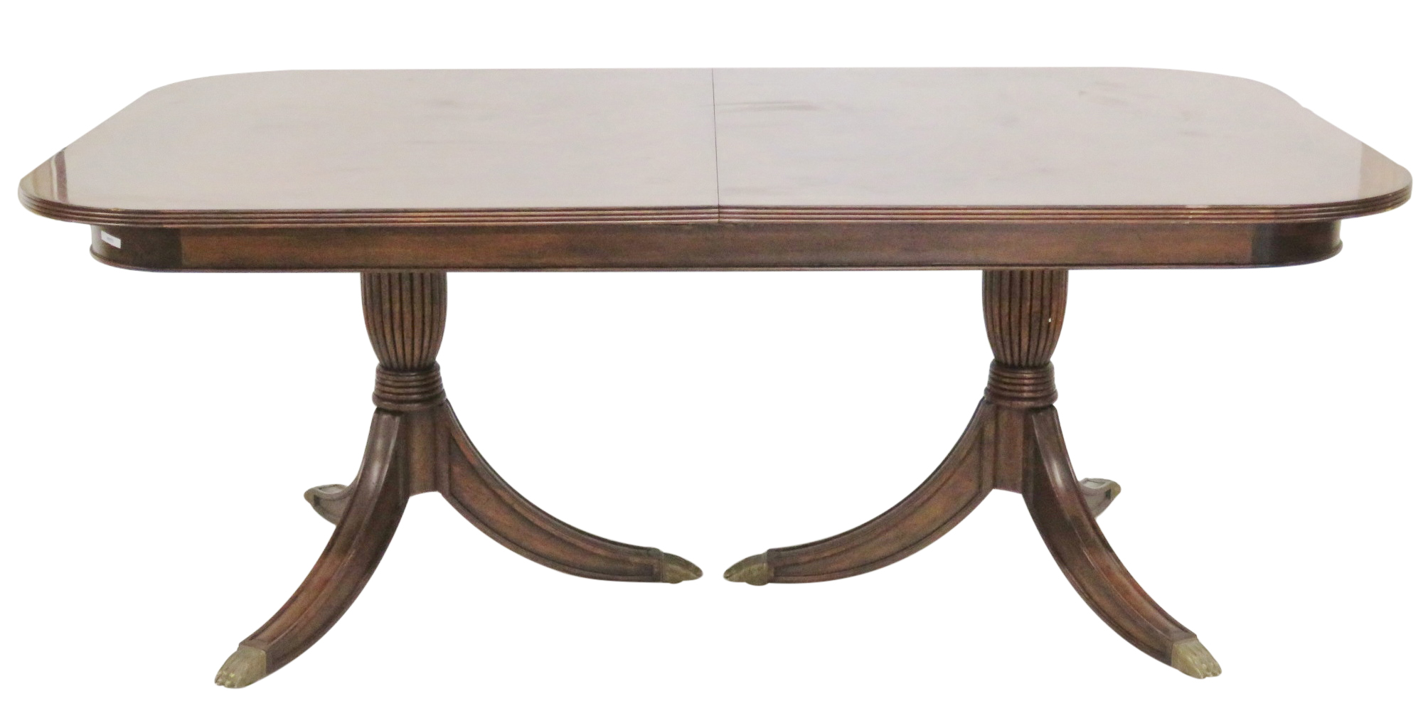 Jonathan Charles Mahogany Pedestal Dining Table Chairish