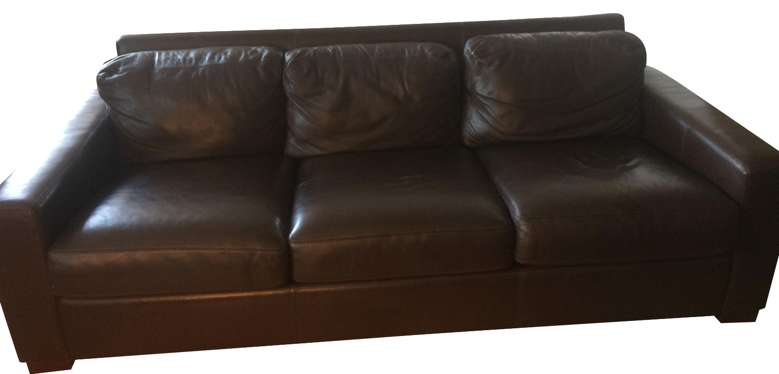 Sofa bed design within reach - Image Of Design Within Reach 84 Portola Leather Sofa