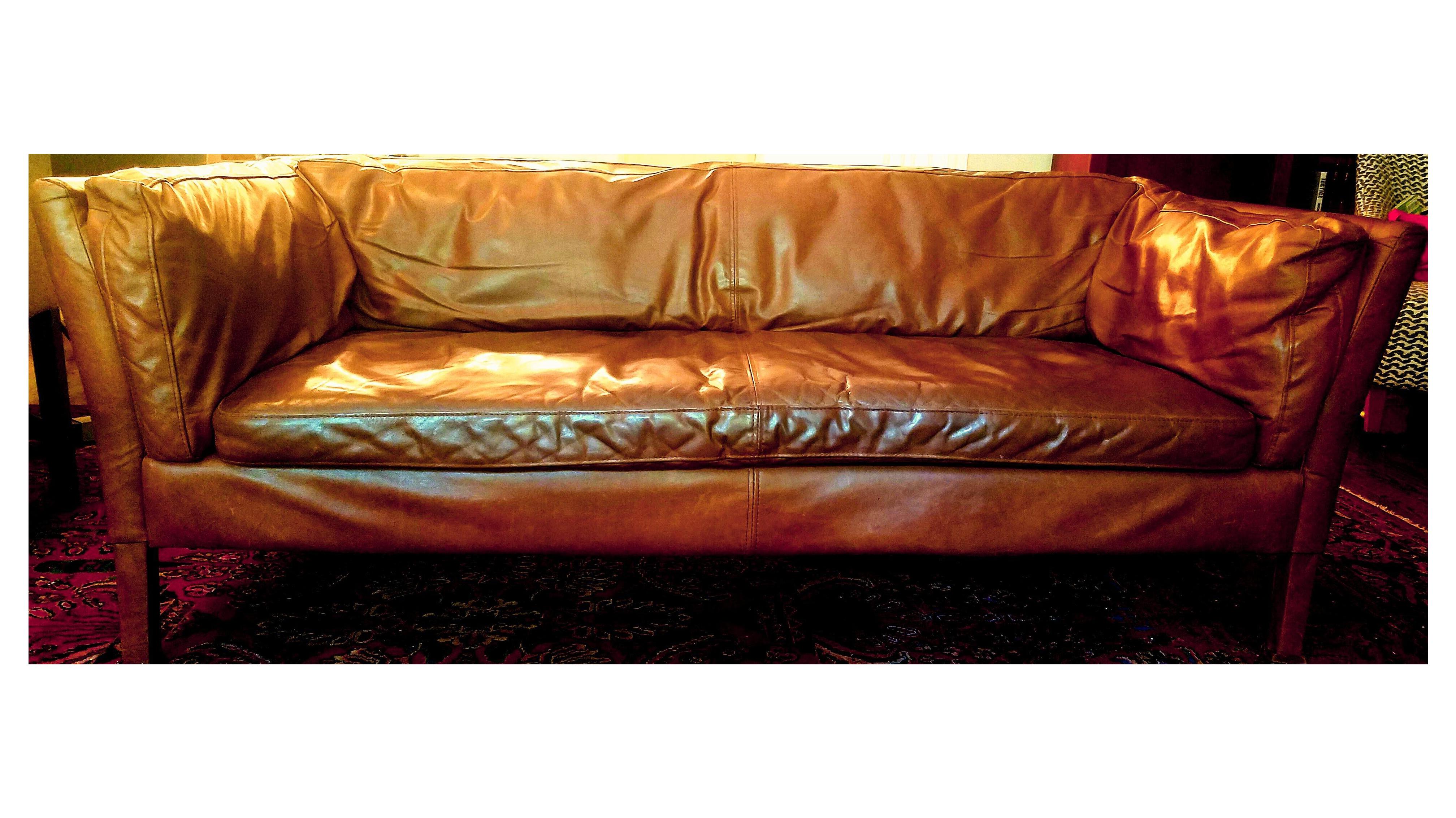 Sorensen Leather Sofa from Restoration Hardware