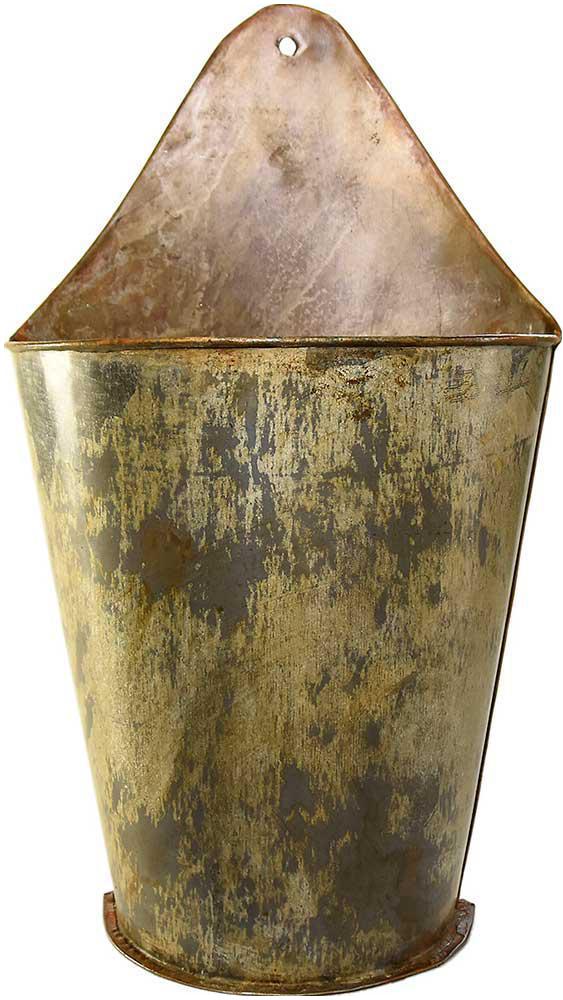 galvanized metal wall planter