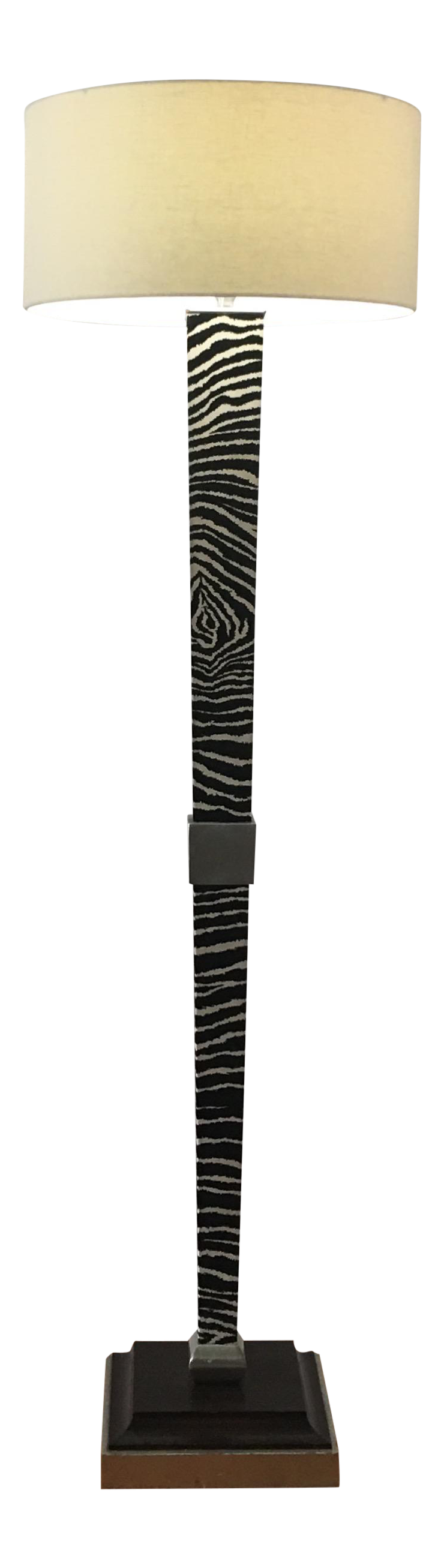 Zebra Floor Lamps : Black and white zebra floor lamp chairish