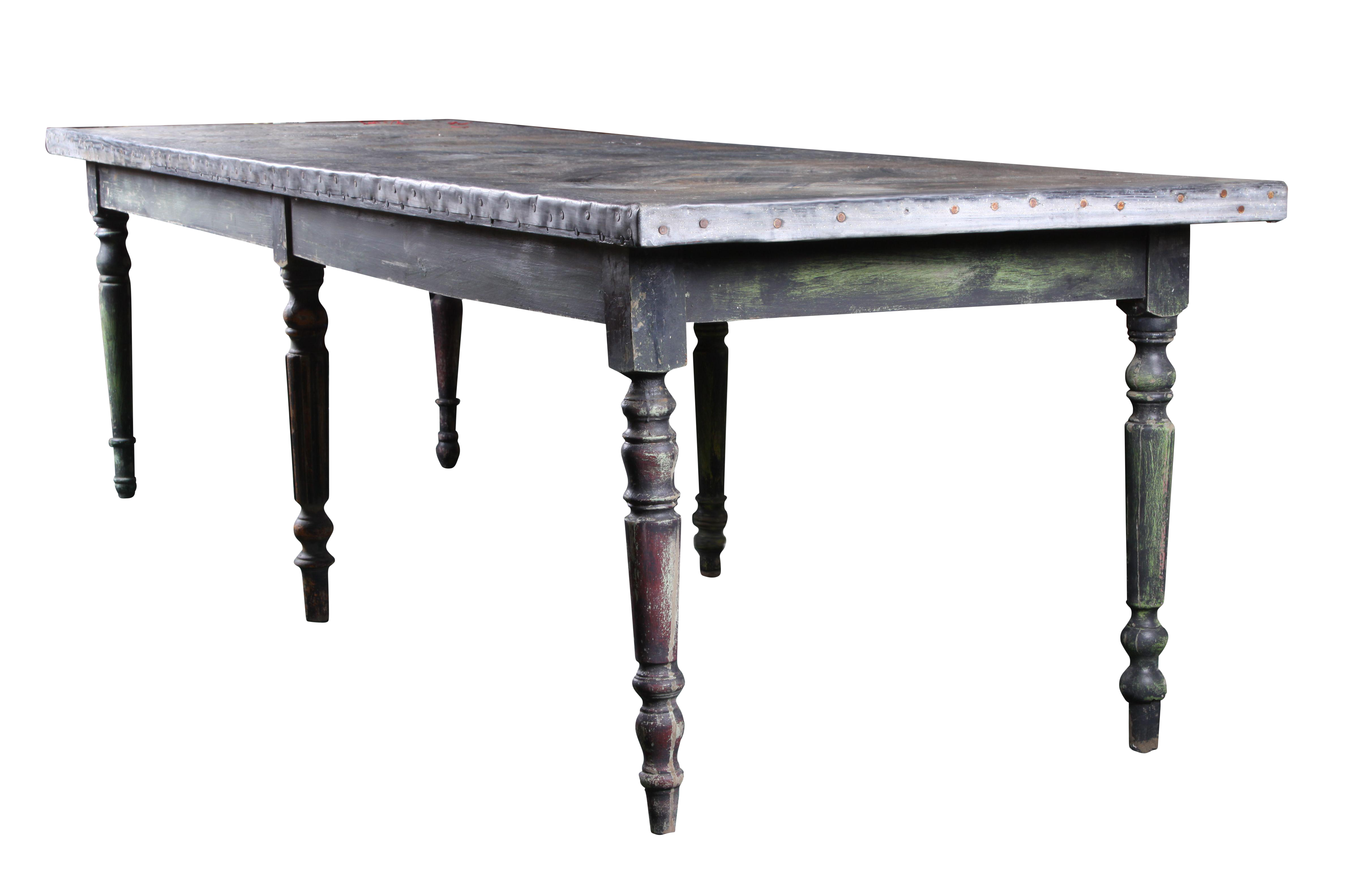 french zinc top table chairish