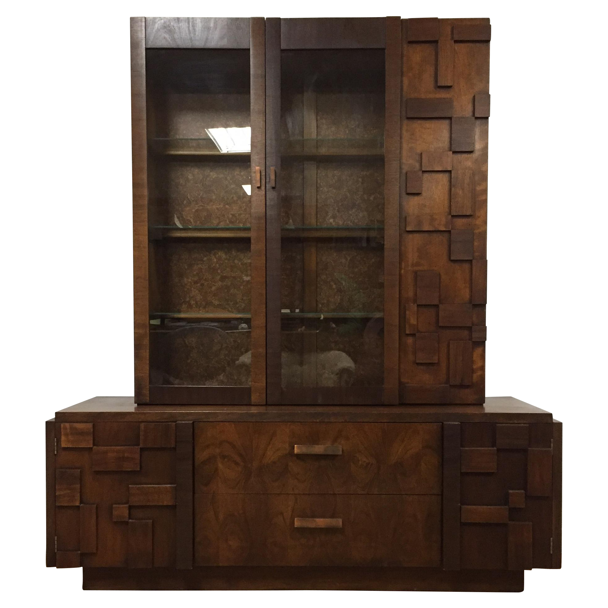 Solid Walnut Bedroom Furniture Gently Used Lane Furniture Chairish