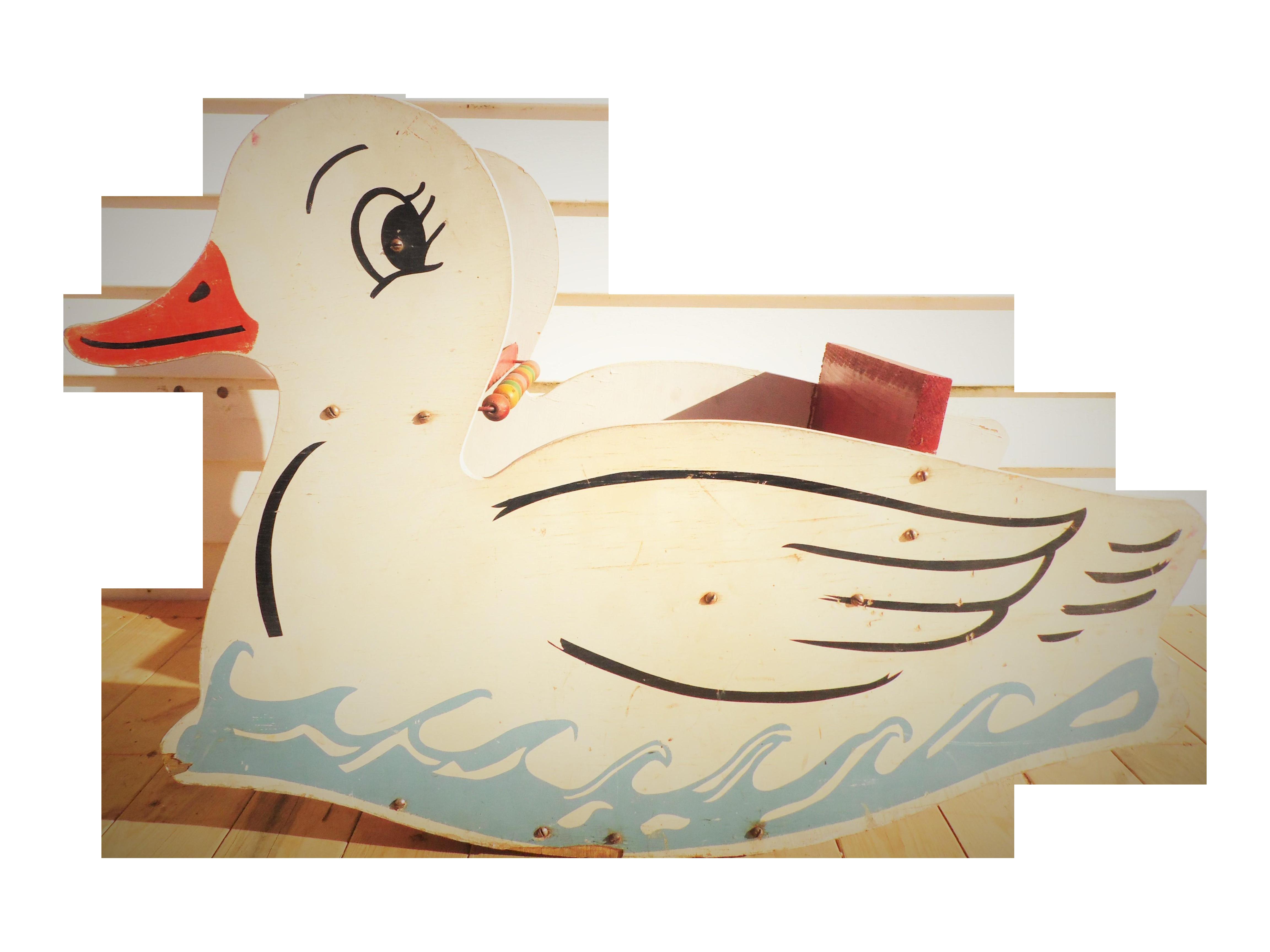 Vintage Wooden Duck Rocker