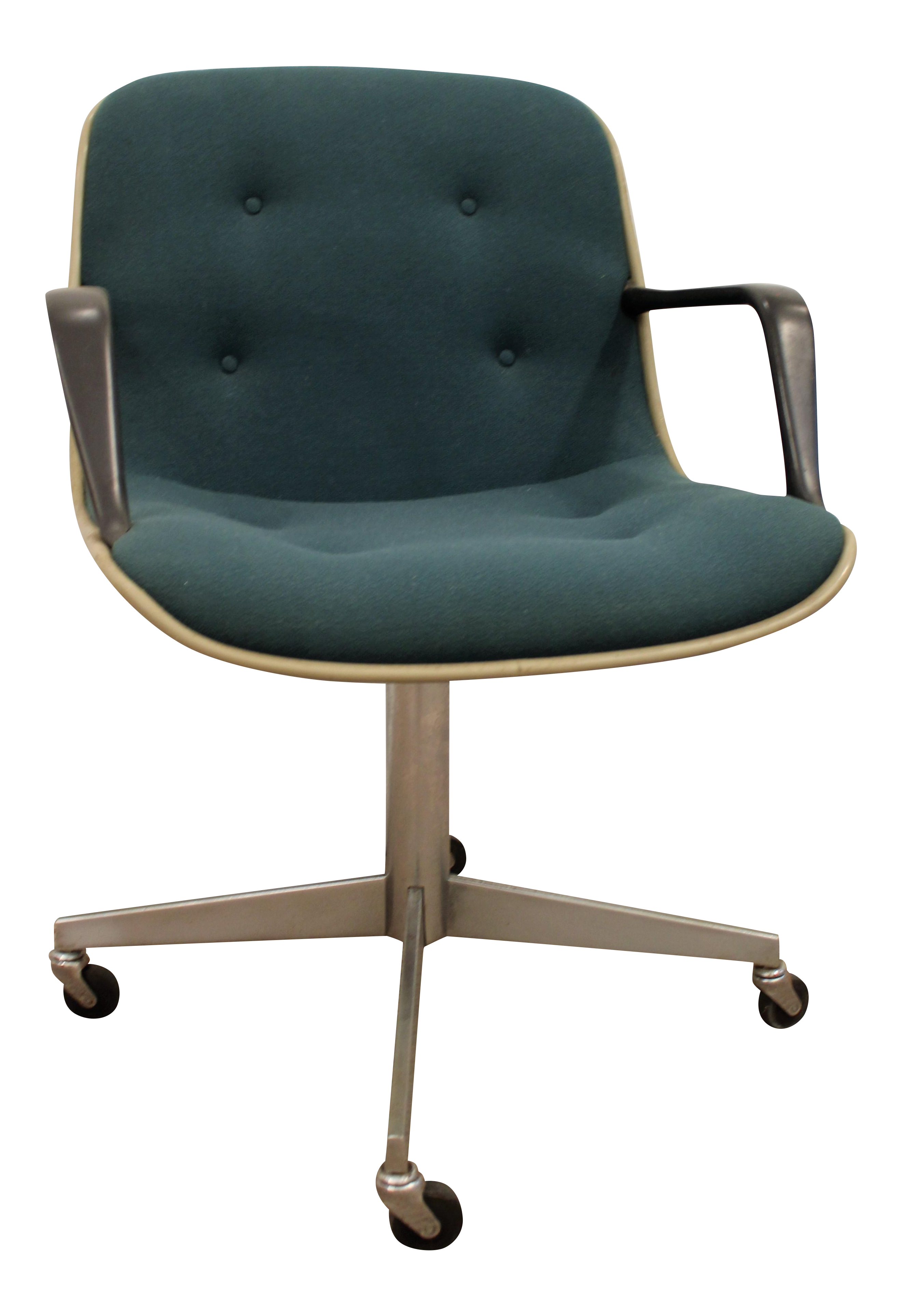 Mid Century Modern Groovy Green Steelcase fice Arm Chair on