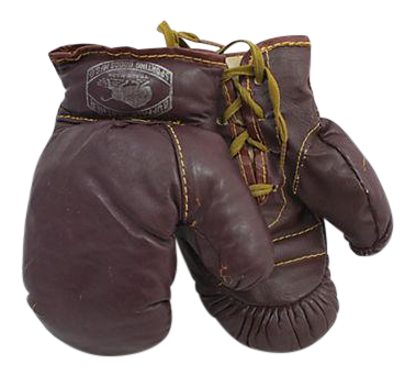 Child 39 S Leather Boxing Gloves A Pair Chairish