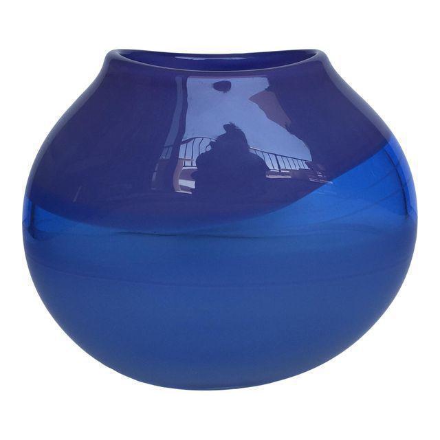 Blue Amp Purple Oval Art Glass Vase Chairish