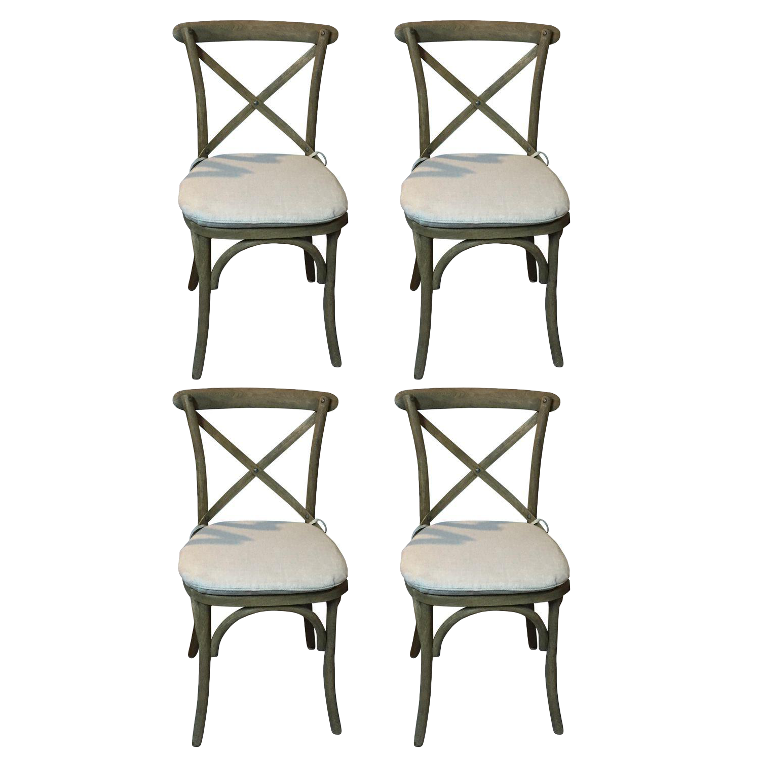 Restoration Hardware Caned Bistro Chairs Set of 4