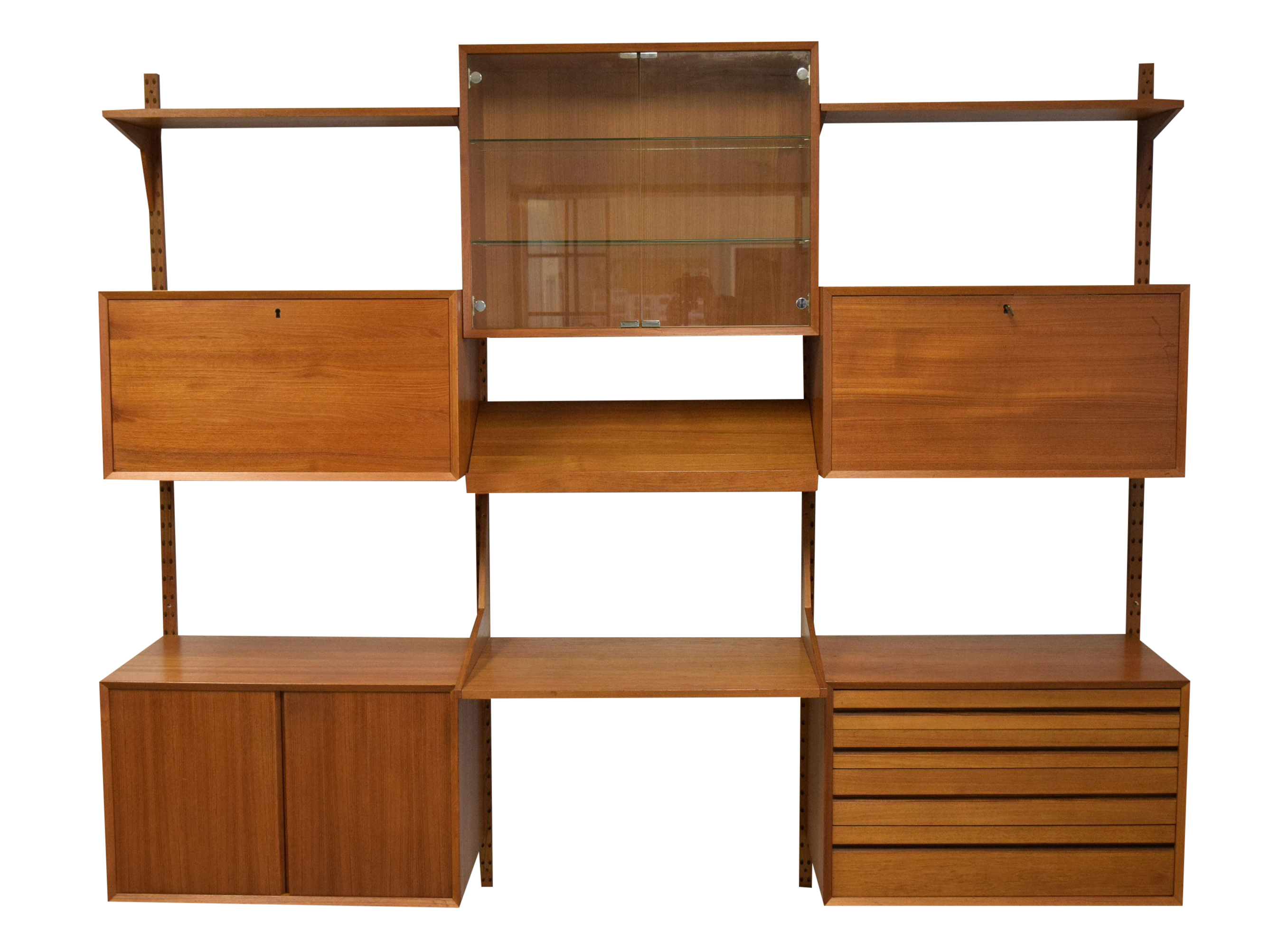 Mid Century Modern Adjustable Wall Unit