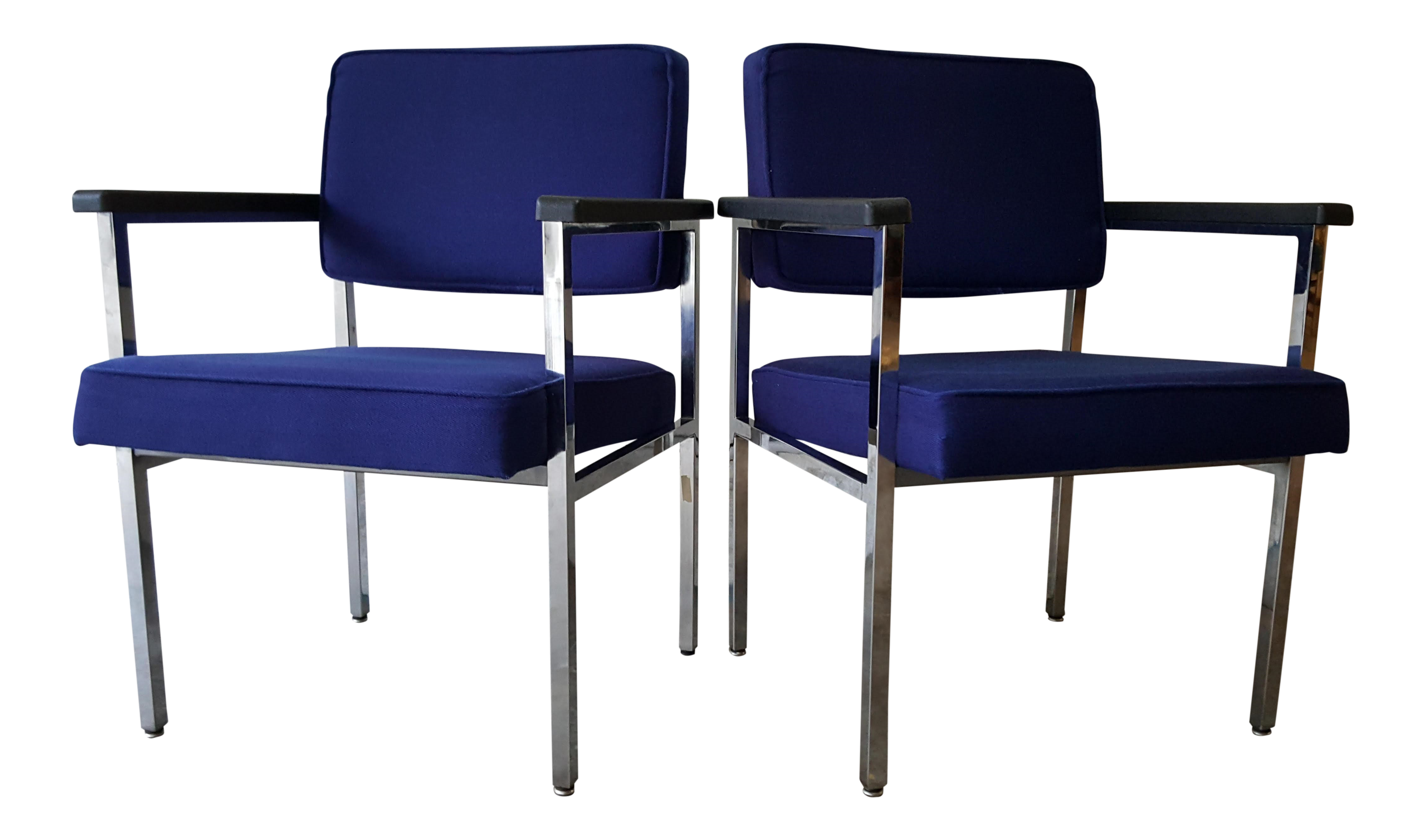 Vintage Steelcase Lounge Chair - Vintage blue chair by steelcase inc