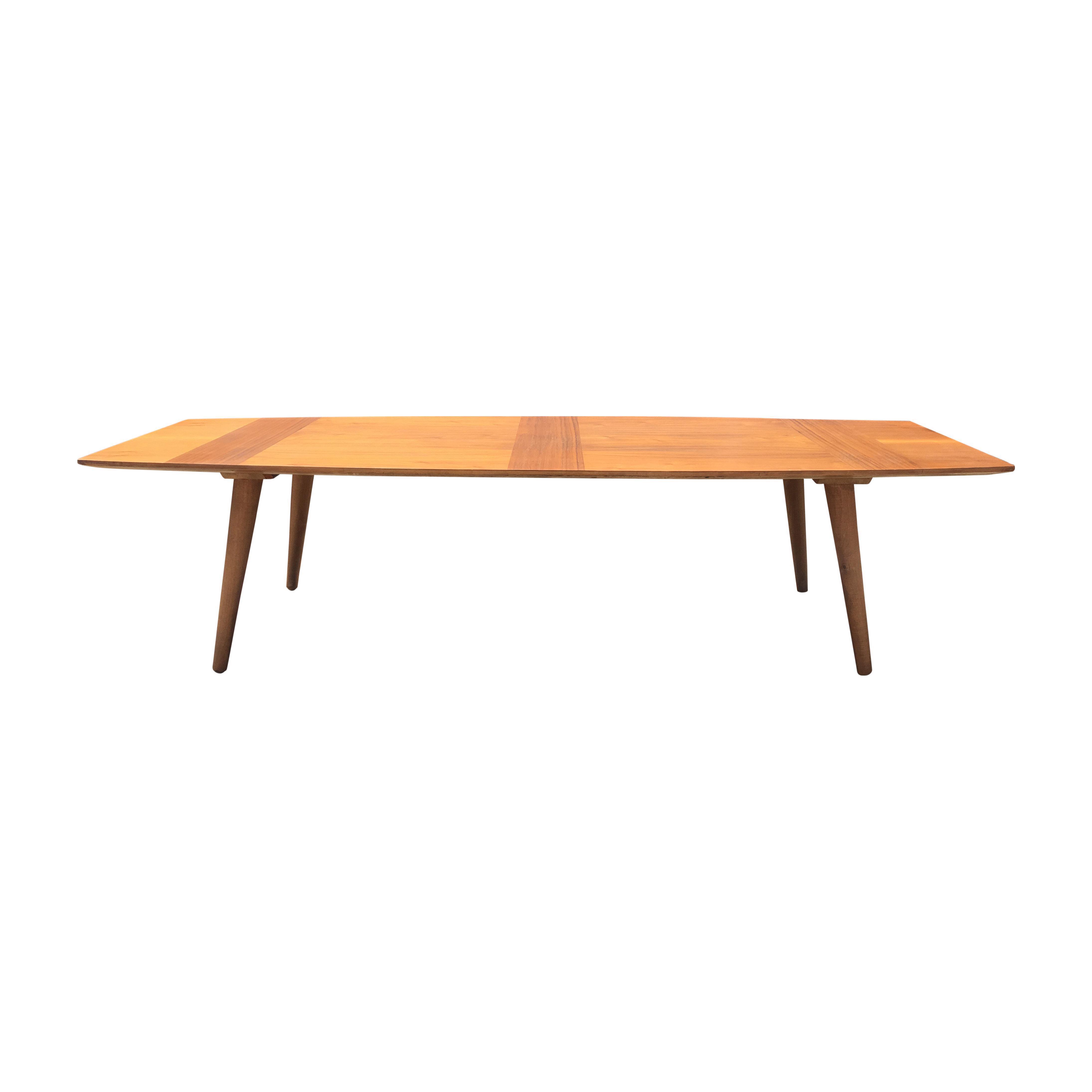 mid-century surfboard coffee table | chairish