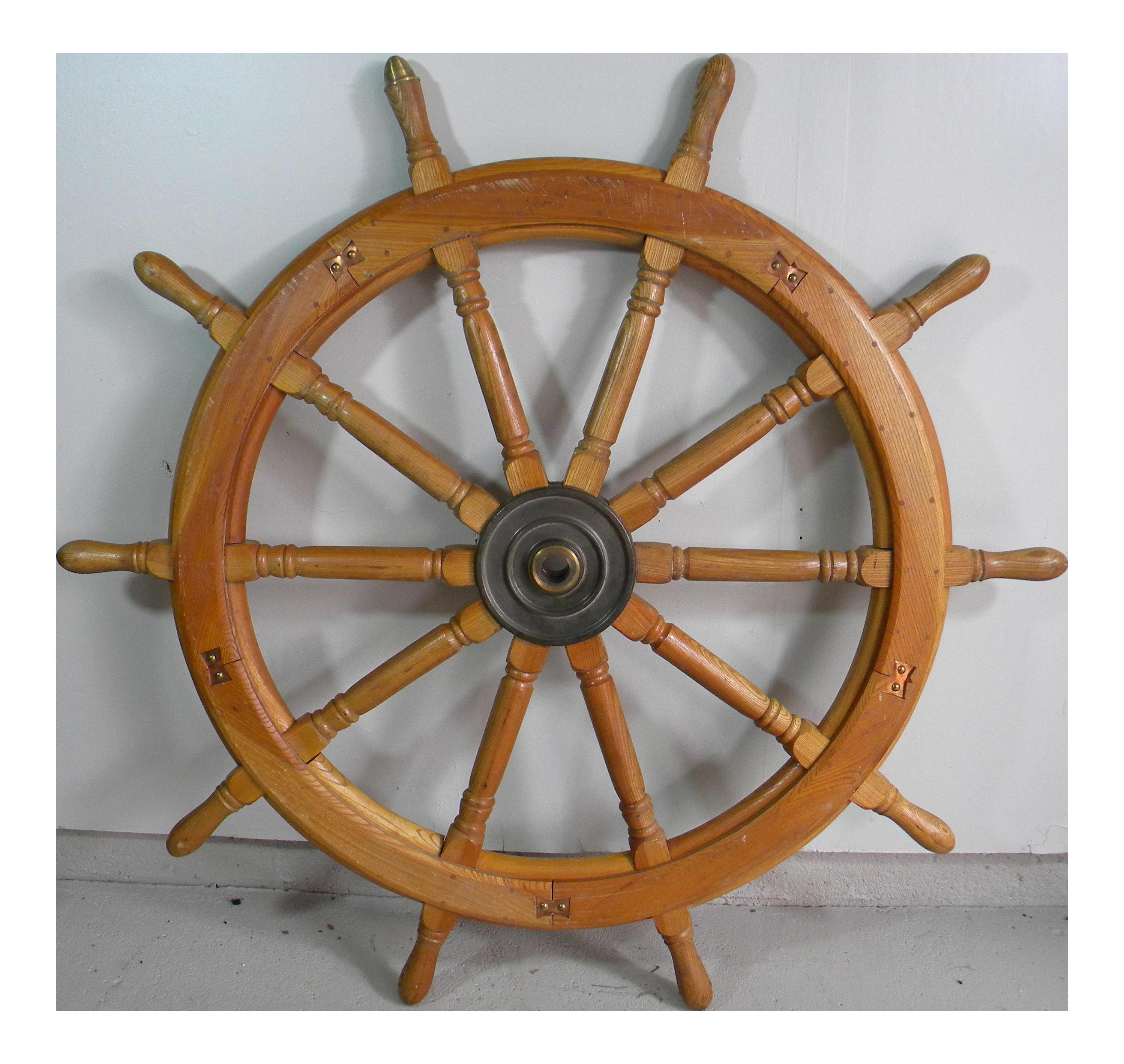 Vintage Huge Ship Wheel Chairish