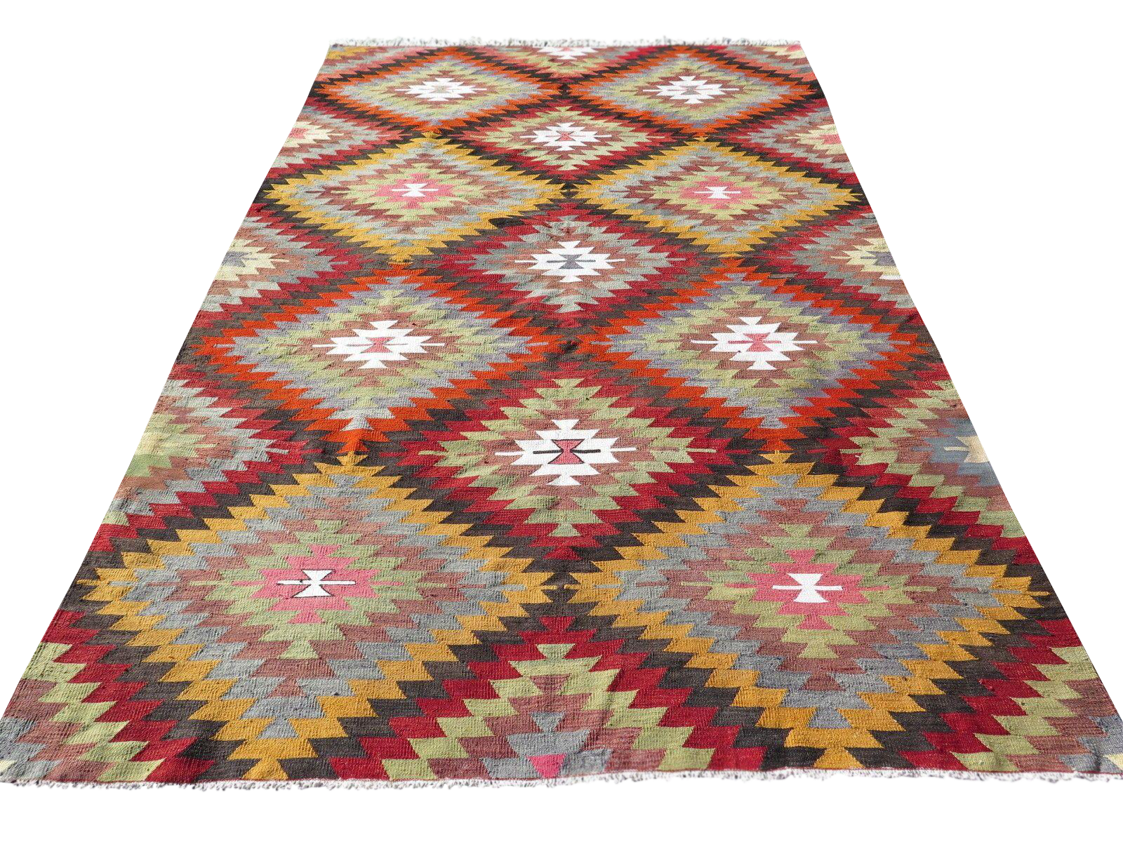Vintage Diamond Turkish Kilim Rug 6 3 Quot X 10 2 Quot Chairish