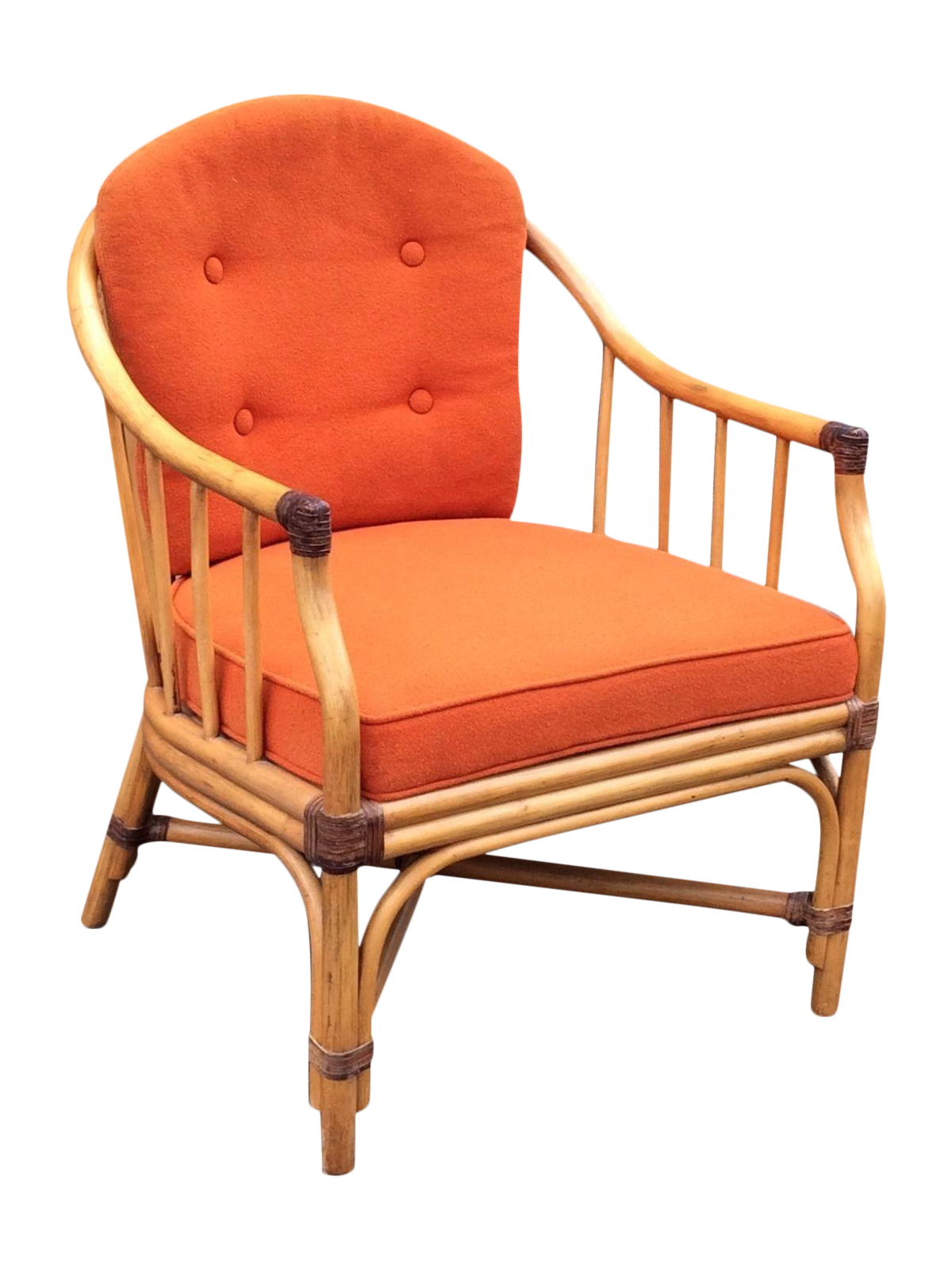 Vintage Bamboo Lounge Chair By Shelby Williams Inc Chairish
