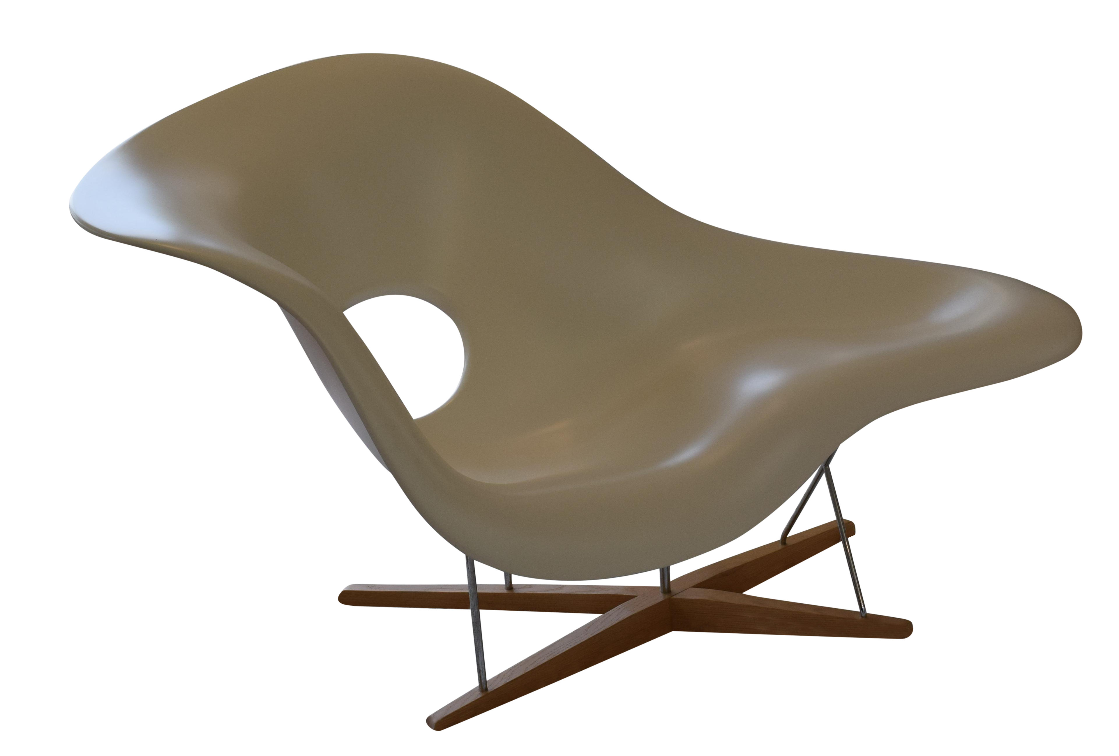 Authentic eames la chaise produced by vitra chairish for Chaise eames vitra