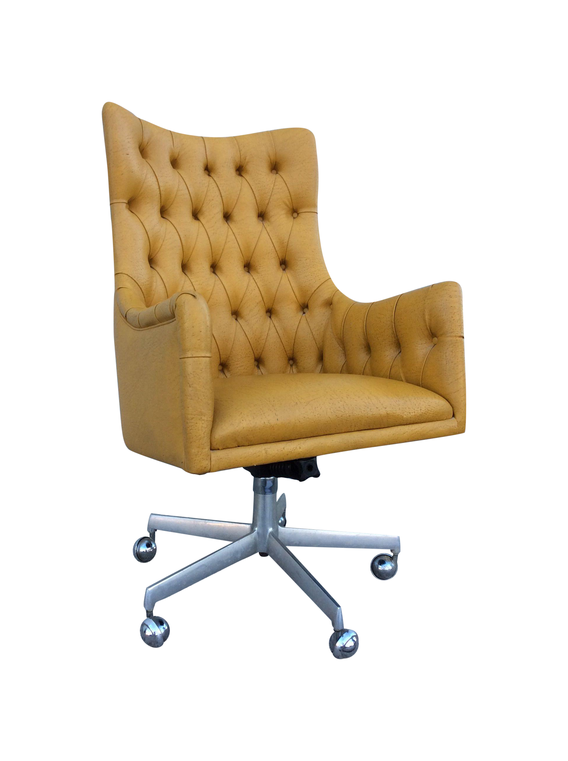 Shelby Williams Tufted Executive Desk Chair Chairish