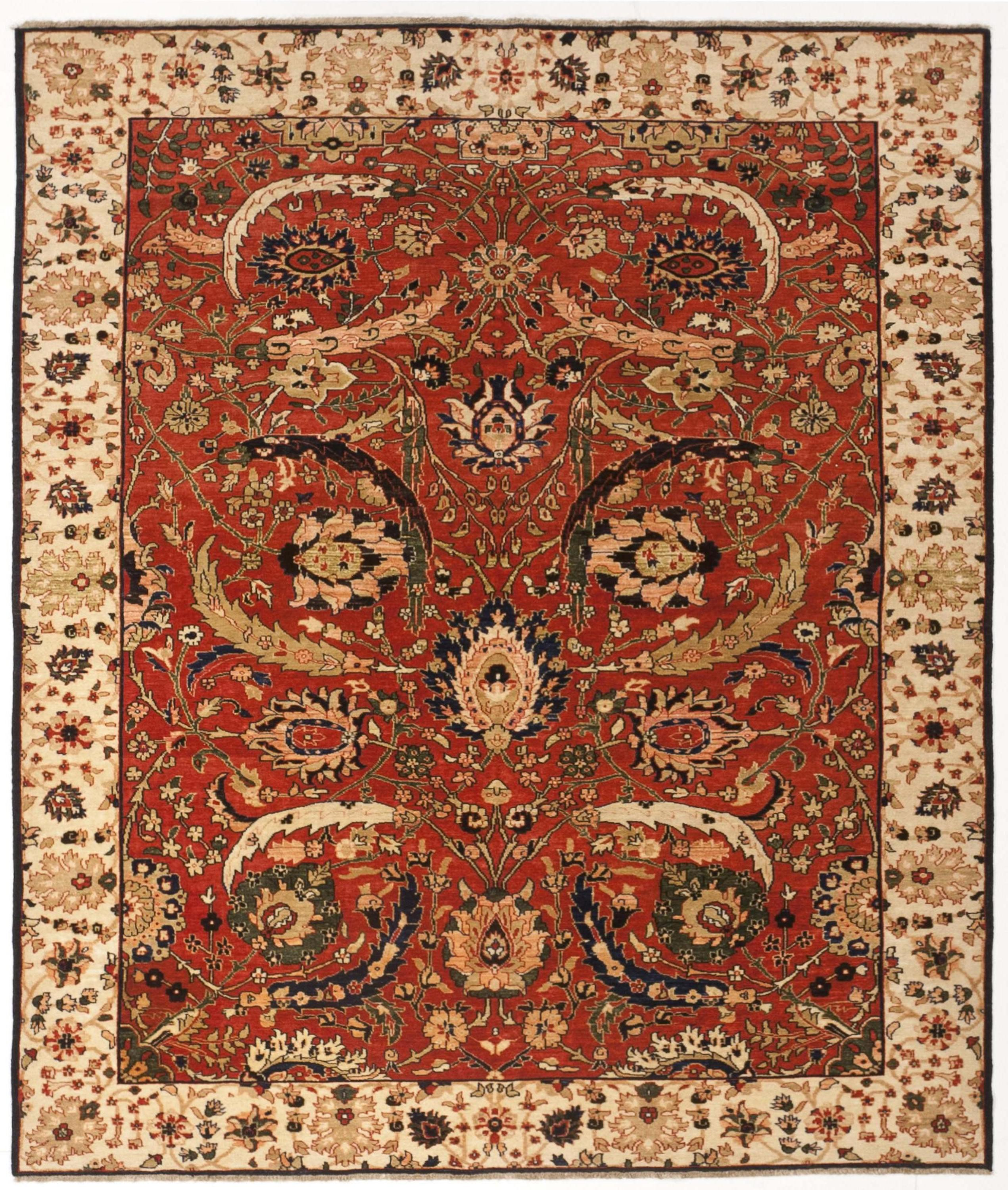 "Hand Knotted Indian Rug - 6'8"" X 8'"