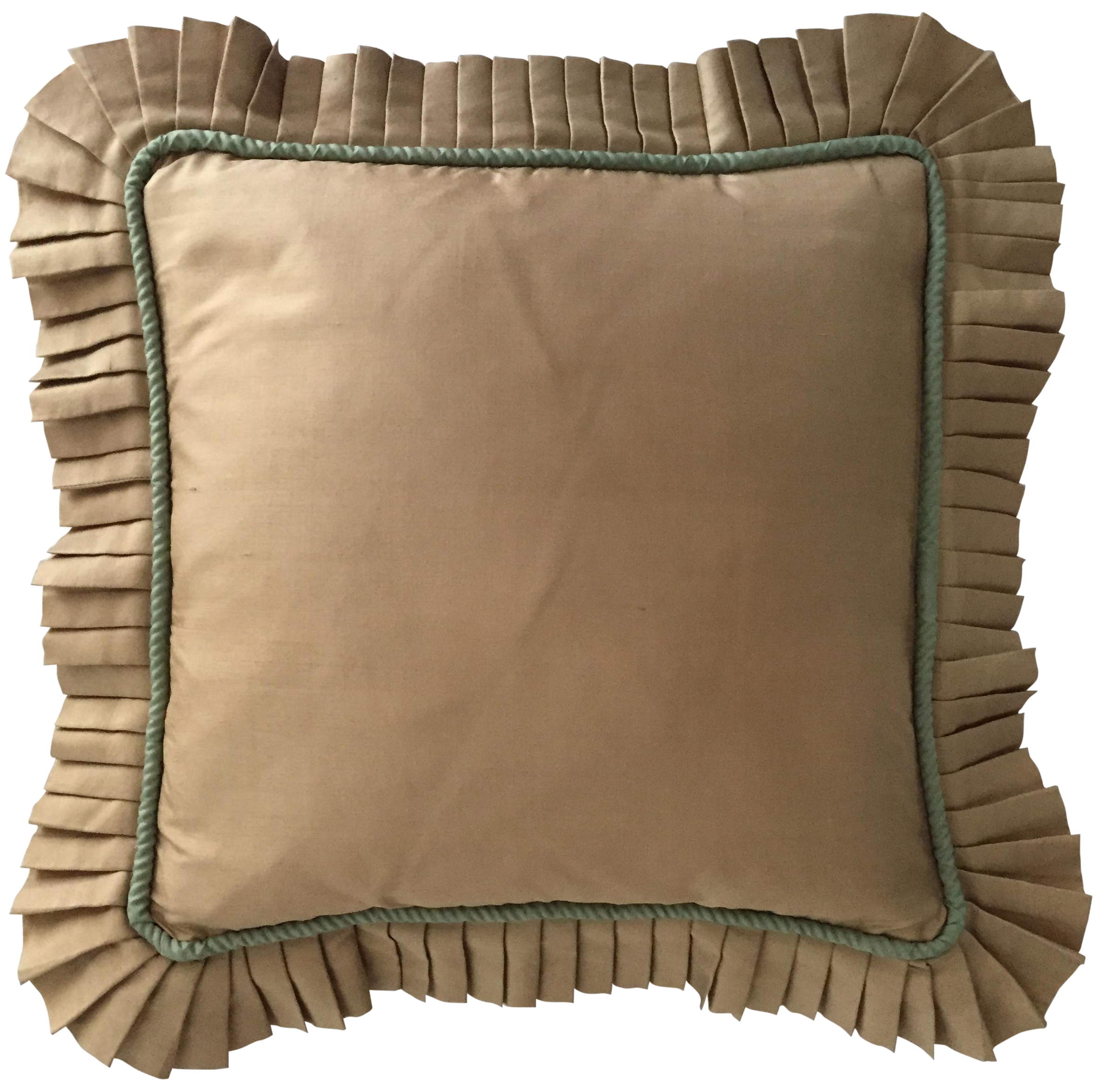 Decorative Pillows With Ruffles : Vintage Silk Ruffled Decorative Pillow Chairish