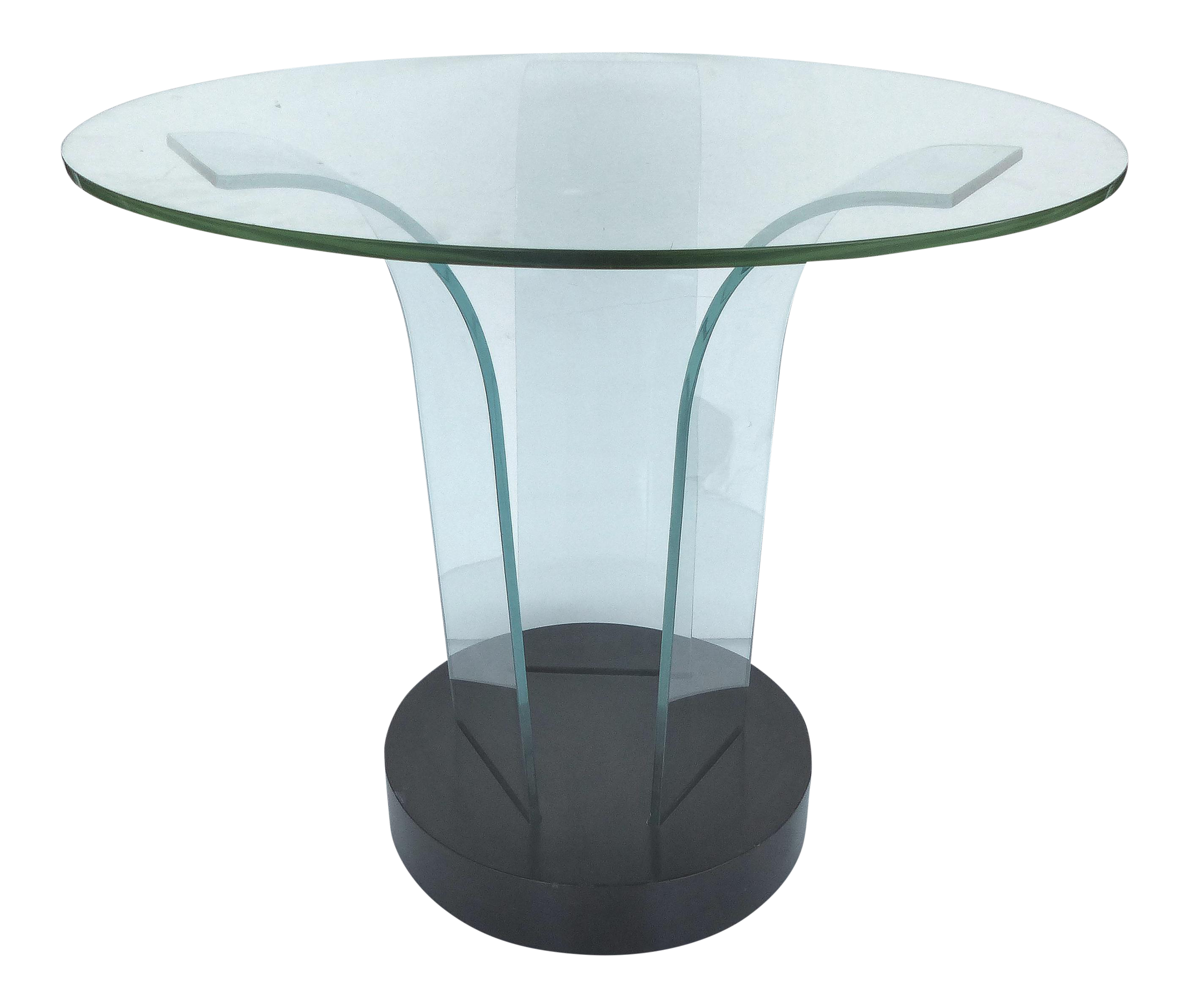 Mid Century Modern Modernage Bent Glass Side Table