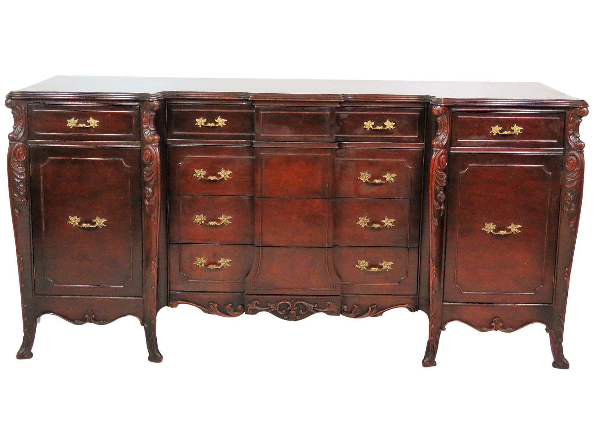 French Style Dark Walnut Sideboard Chairish