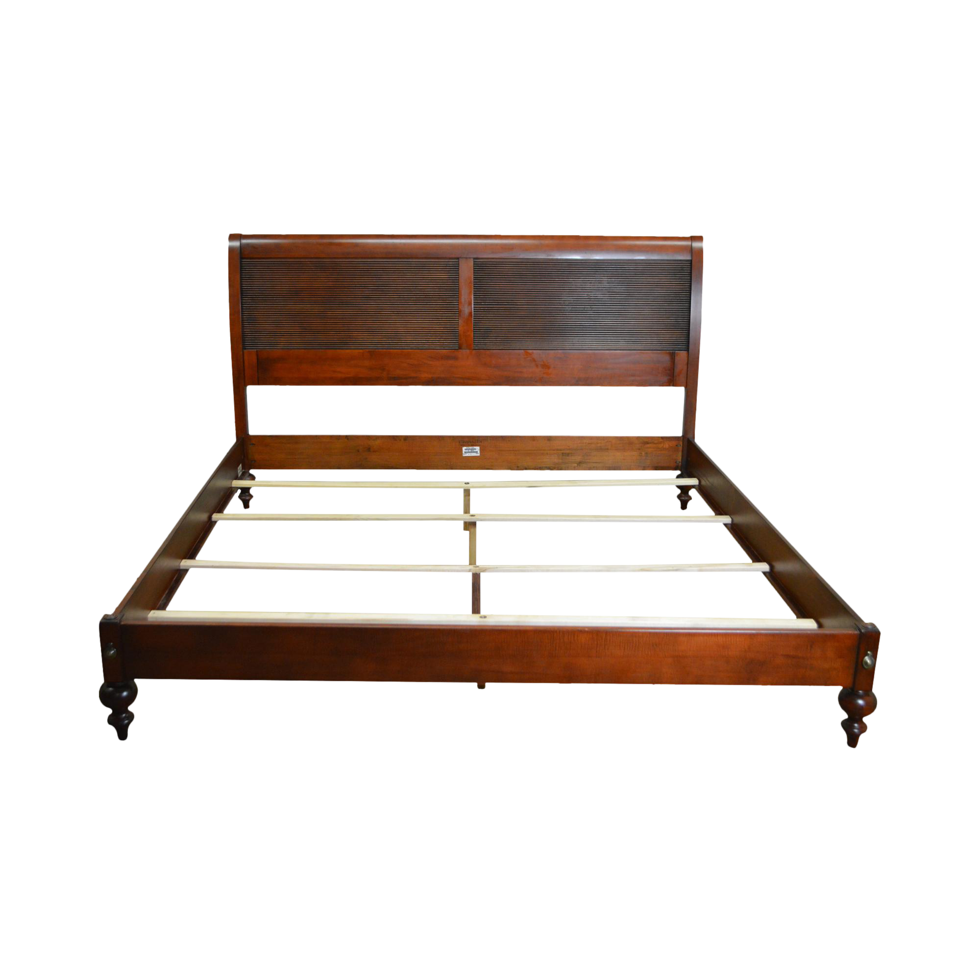 Ethan allen british classics king size bed chairish for Ethan allen king size beds