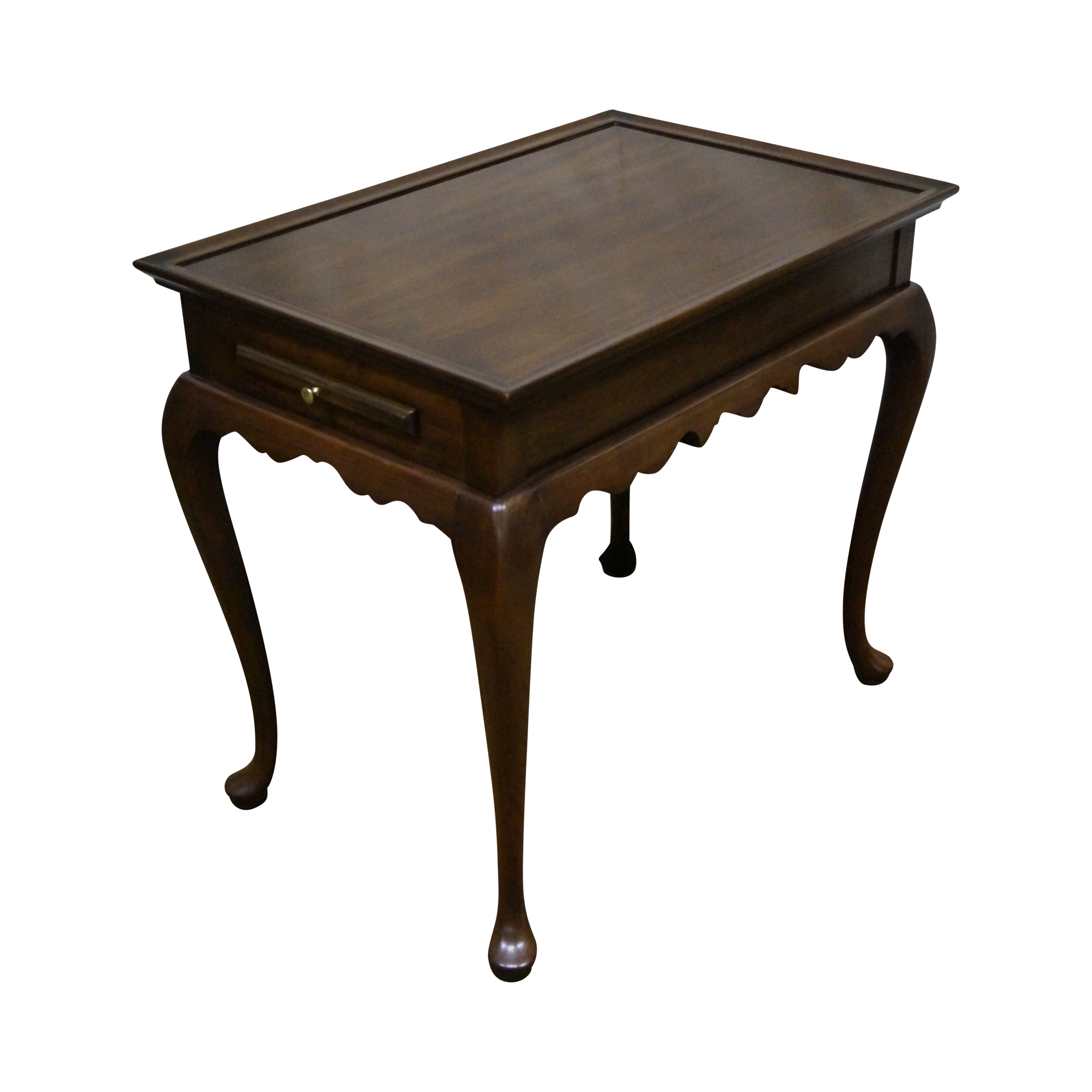 Image Of Harden Solid Cherry Queen Anne Style Tea Table