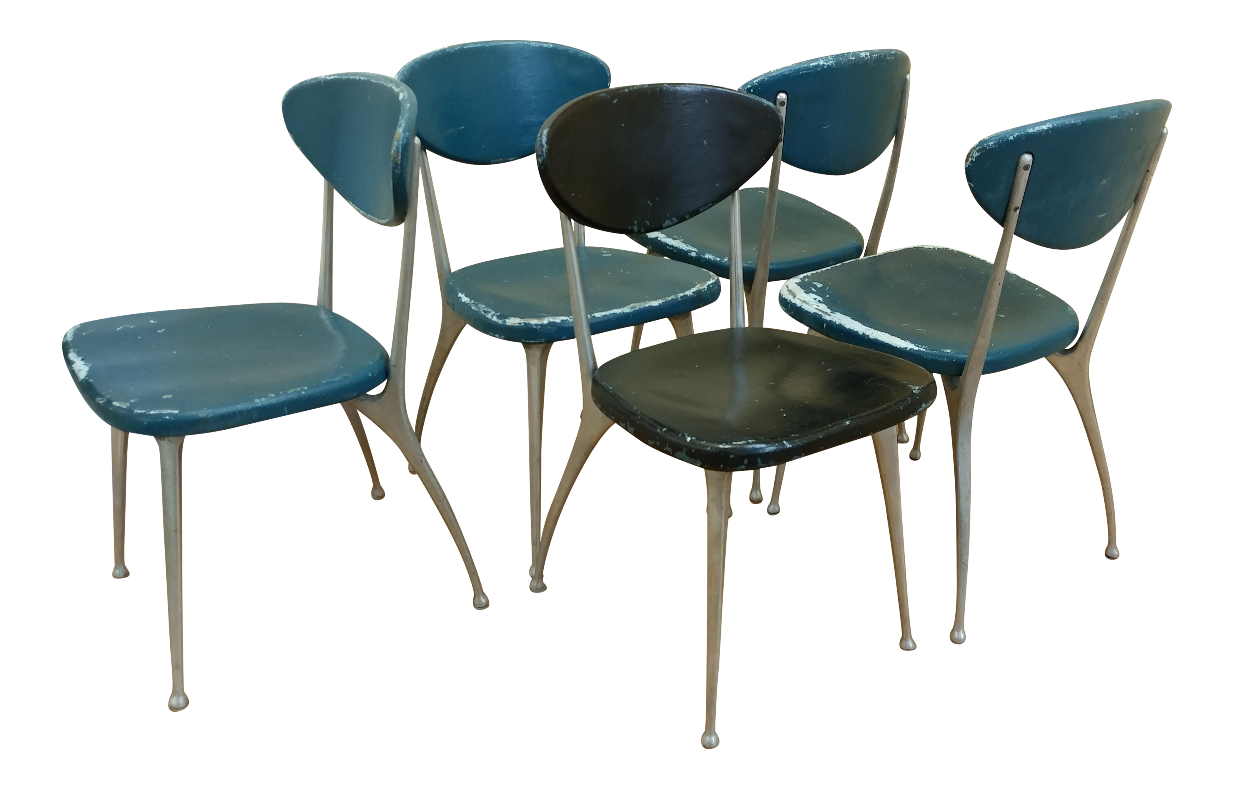 Mid Century Modern Shelby Williams Gazelle Dining Chairs