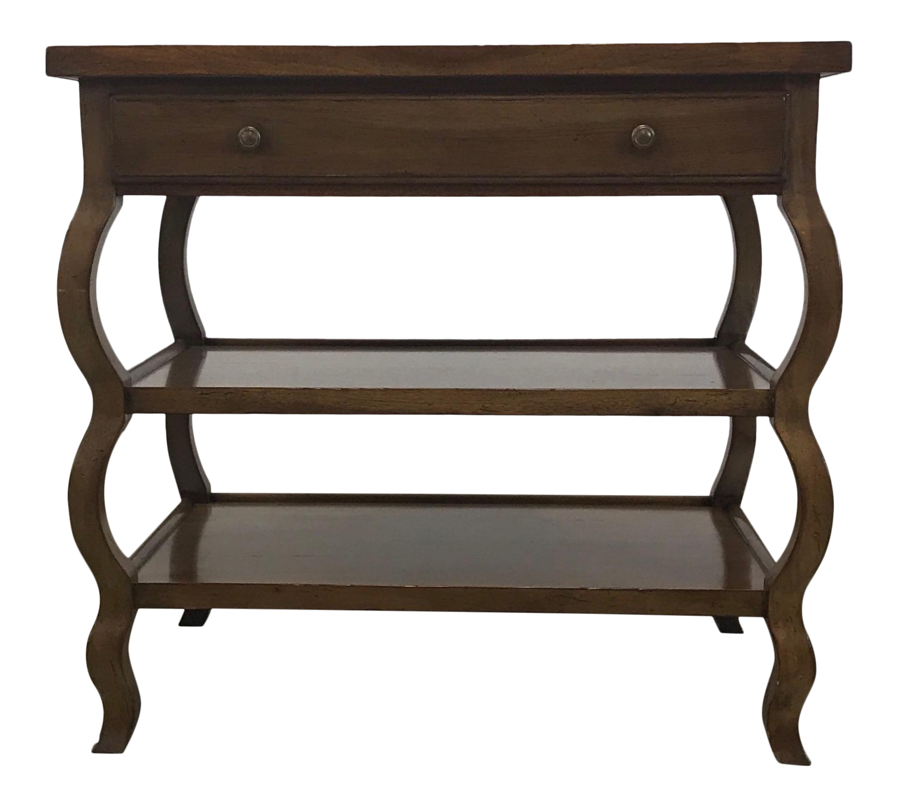 Baker wood entry table with drawer chairish for C table with drawer