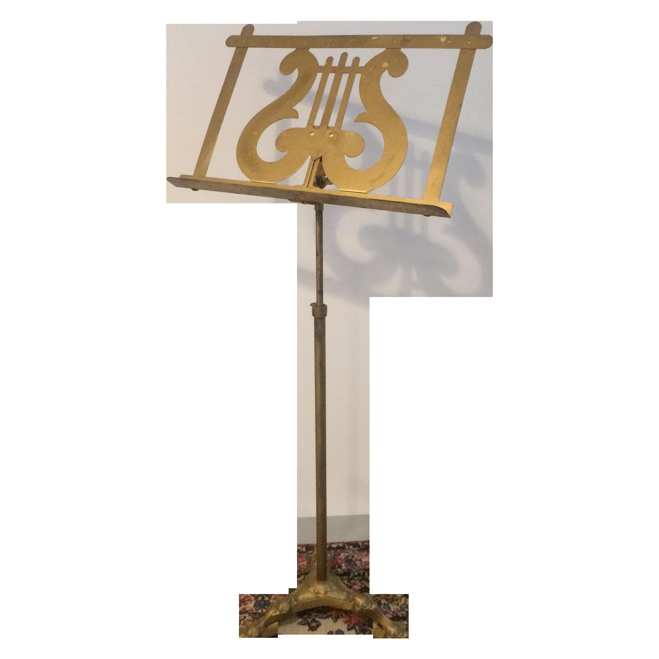 Vintage Neoclassical Brass Music Stand Chairish