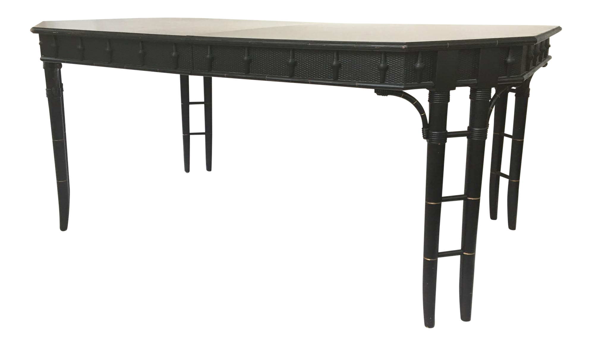 Hollywood regency chinese chippendale bamboo dining table for Table 6 handbook 44