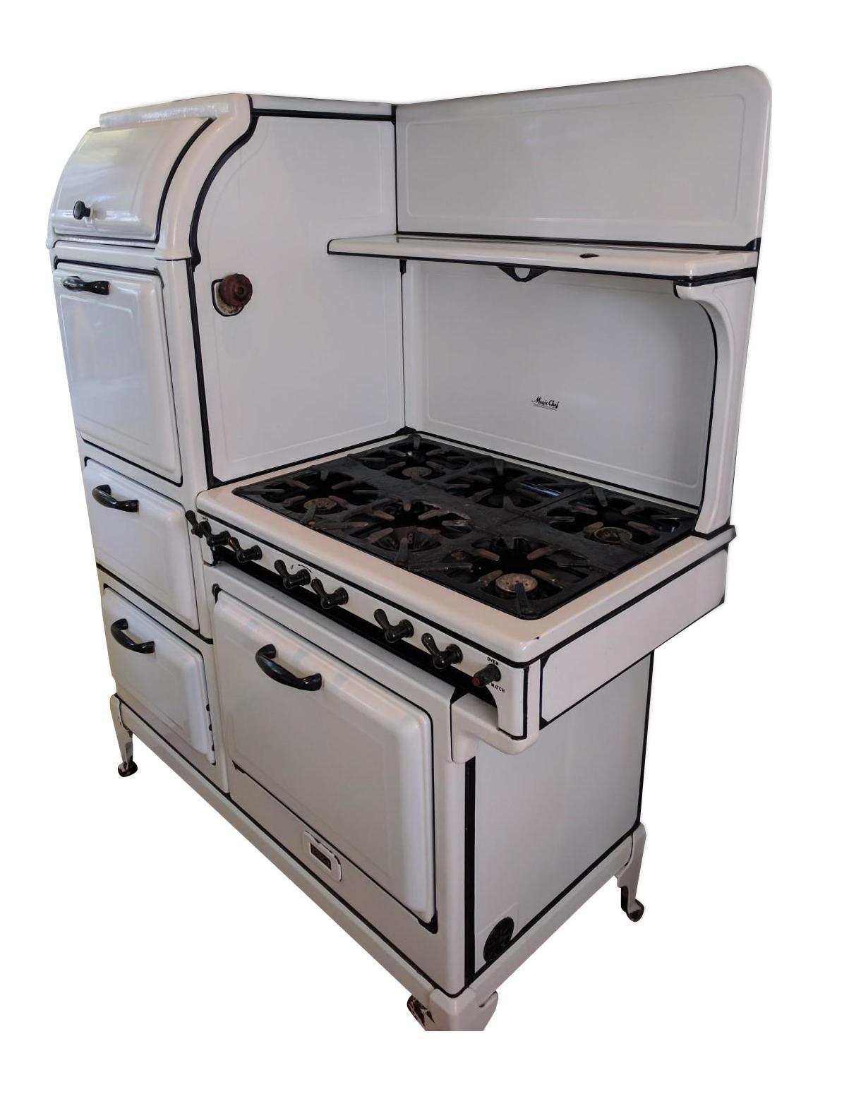 1930s magic chef series stove left stack