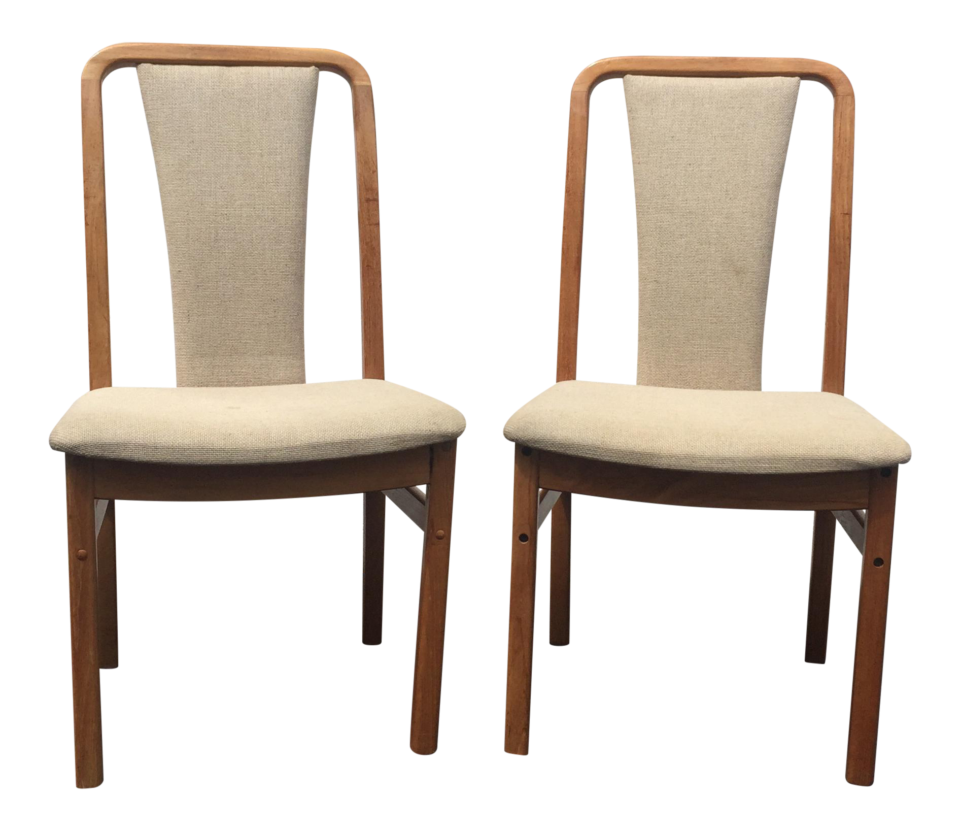 Danish modern dining chairs a pair chairish for Modern dining chairs ireland