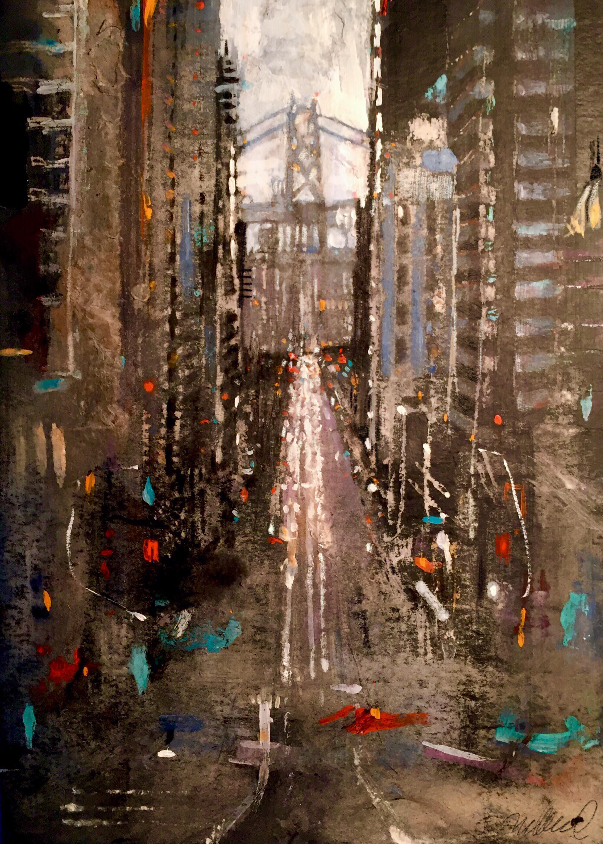 San Francisco Cityscape Painting | Chairish