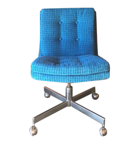 Vintage Reupholstered Rolling Office Chair Chairish