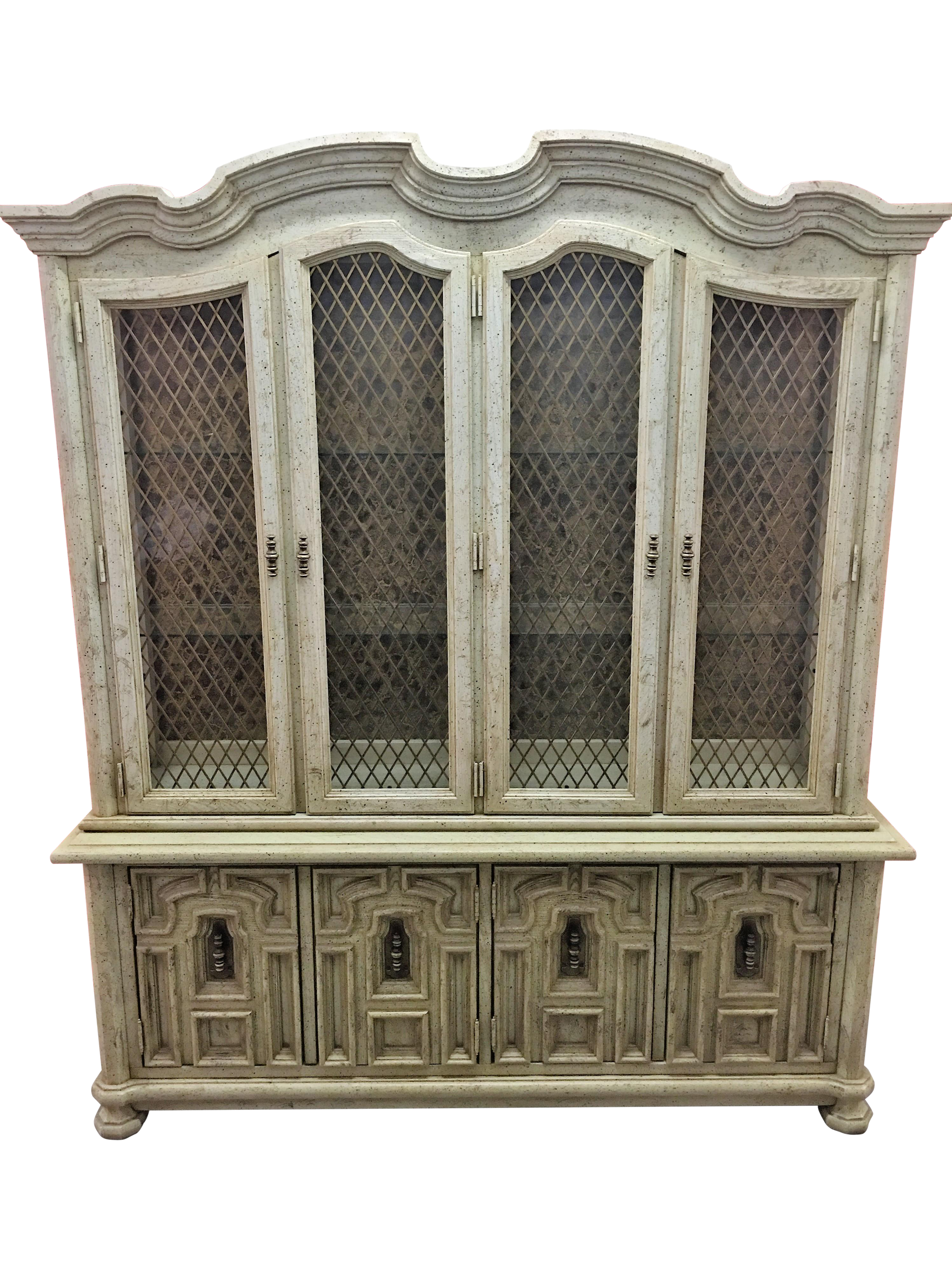 Wooden China Cabinet ~ Vintage stanley solid wood china cabinet chairish