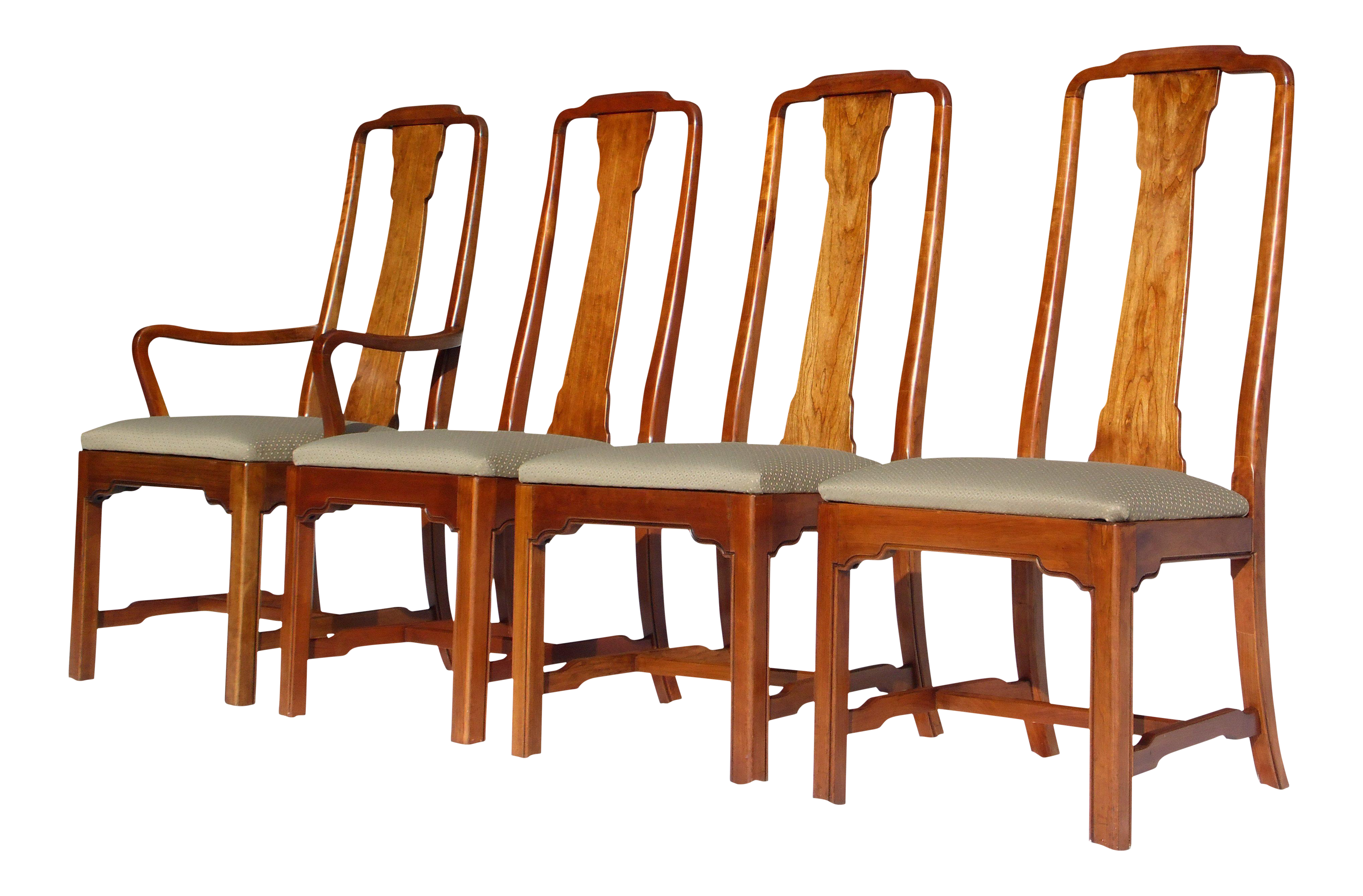 Ethan Allen Canova Campaign Style Dining Chairs Set of 4