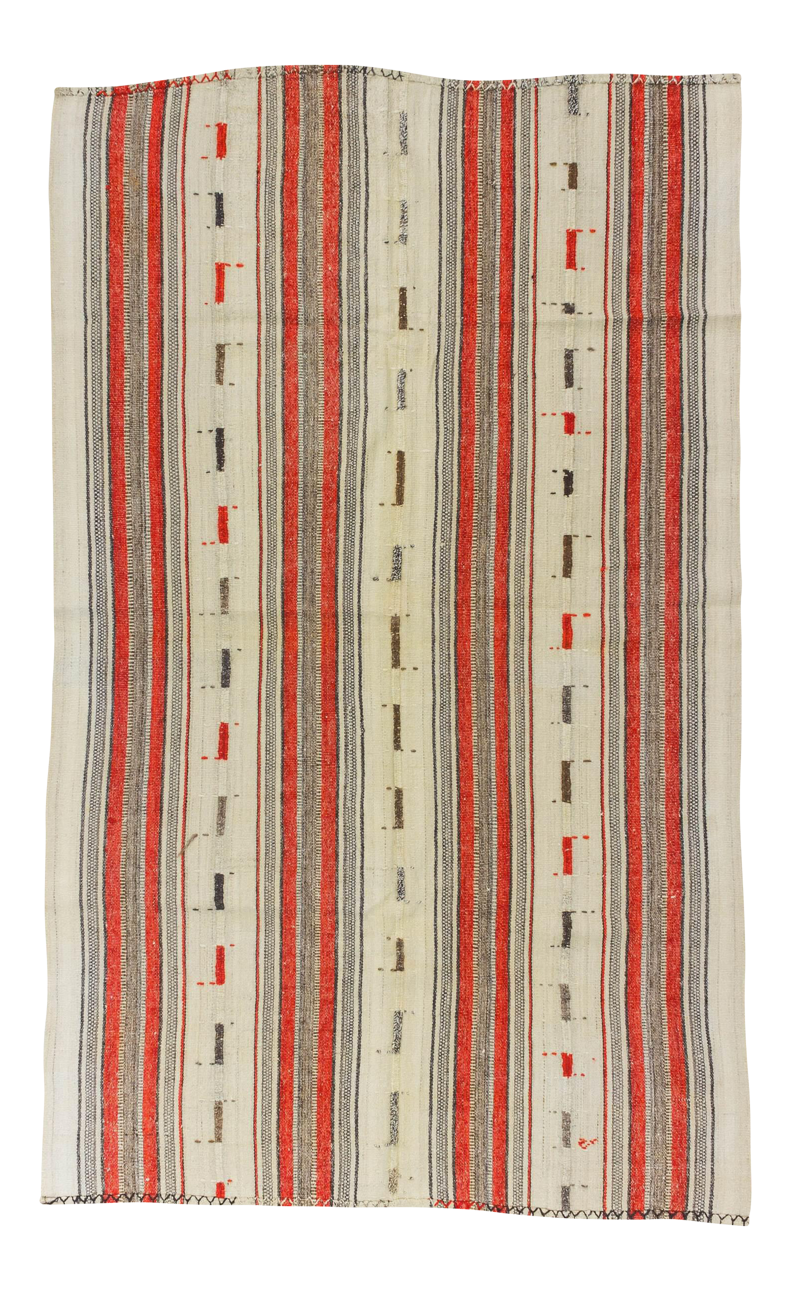Hand-woven large striped throw rugs