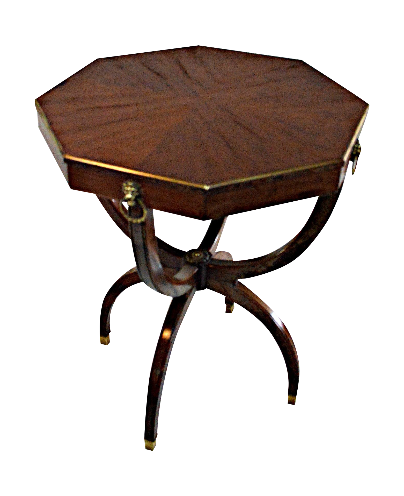 Regency Octagonal Accent Table Chairish