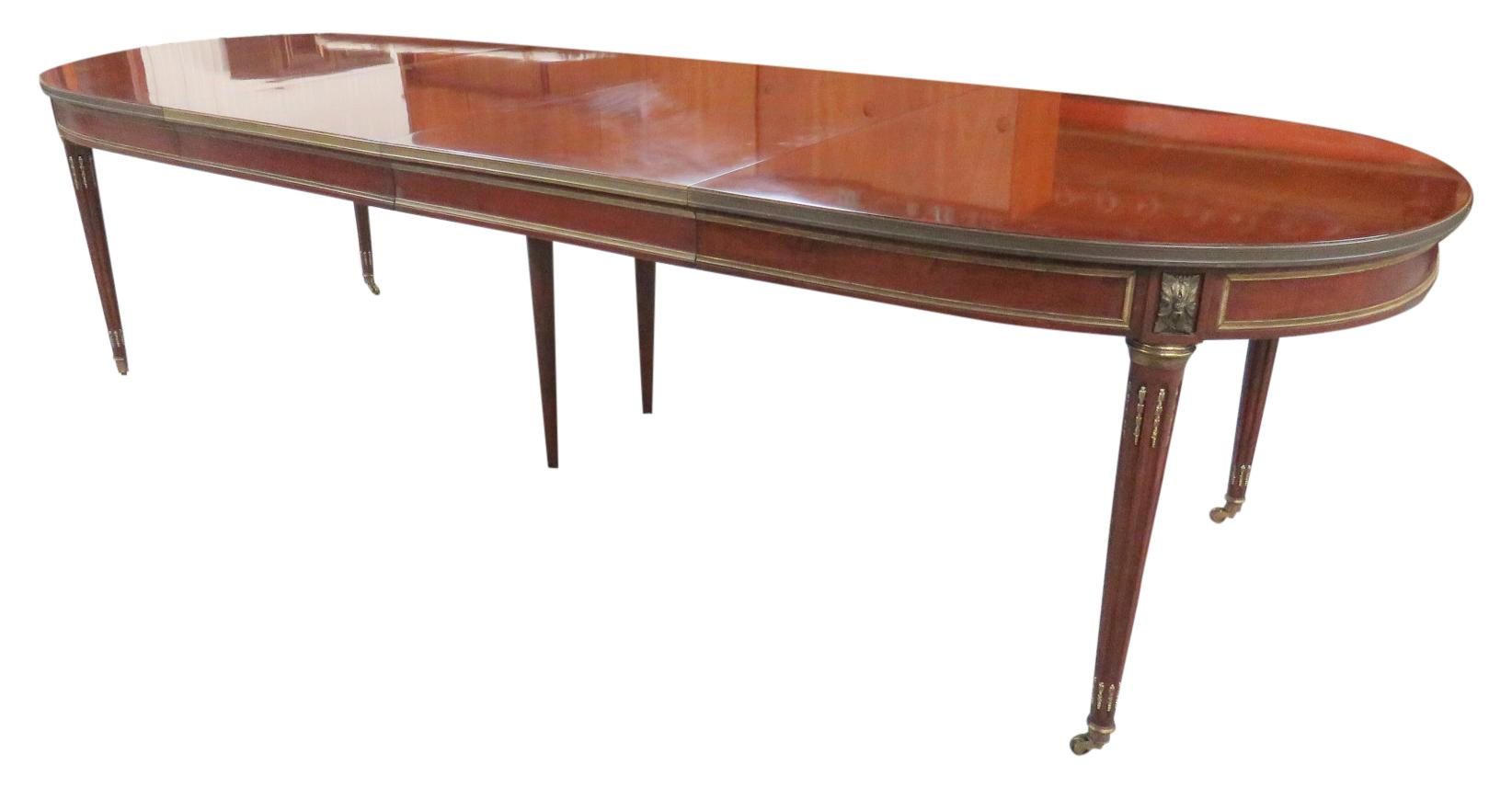 Louis xvi style dining table chairish for Cie 85 table 4