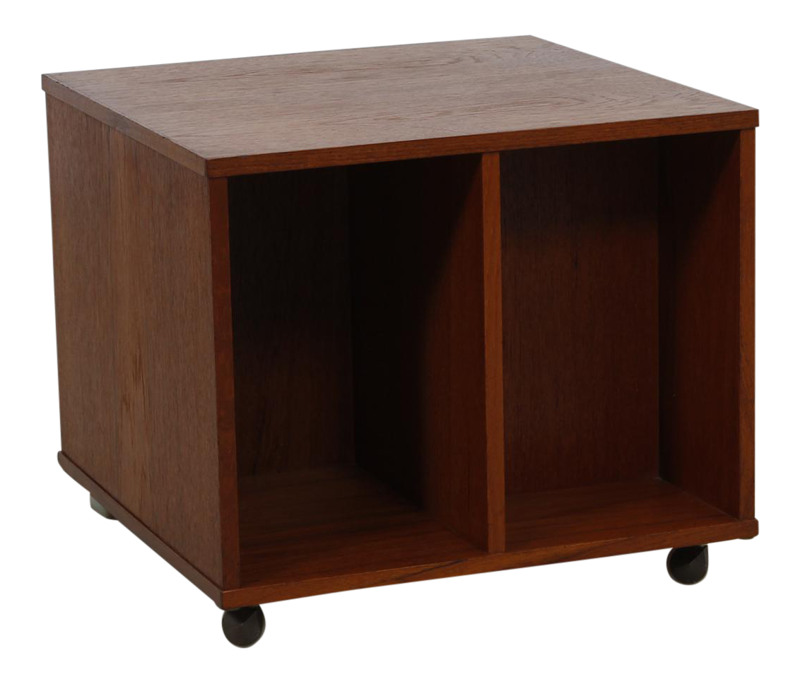 Rolling Vinyl Book Caddy Multifunctional Storage Cube